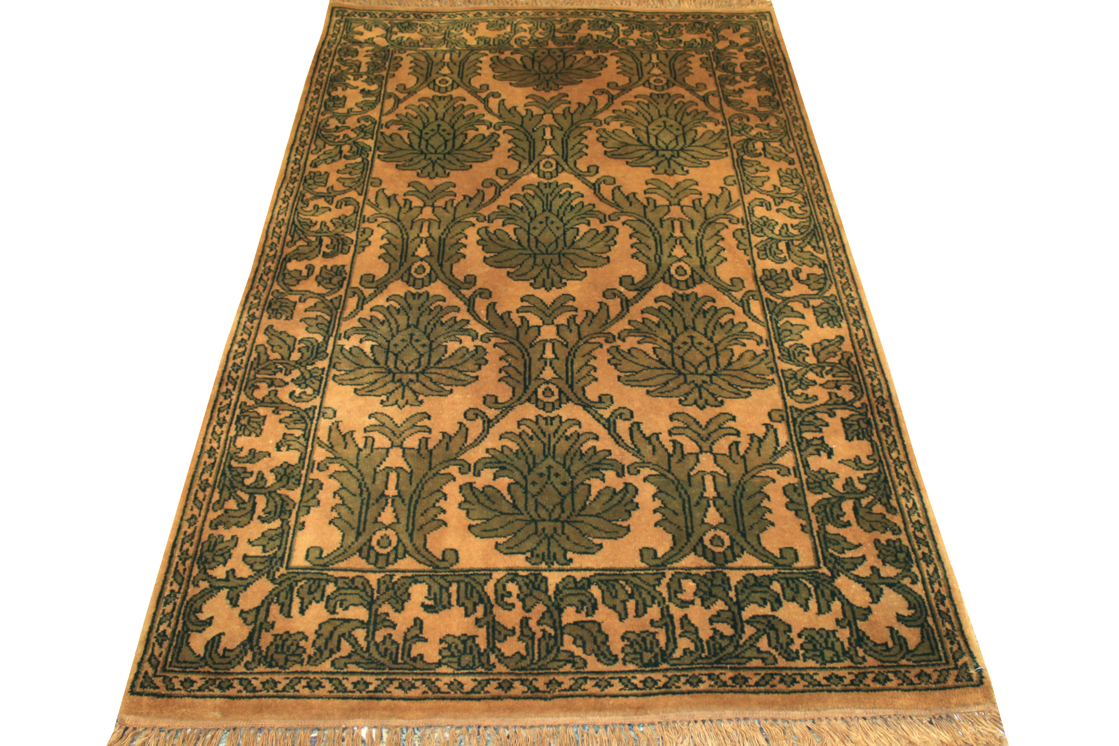 4x6 Traditional Hand Knotted Wool Area Rug - MR000010