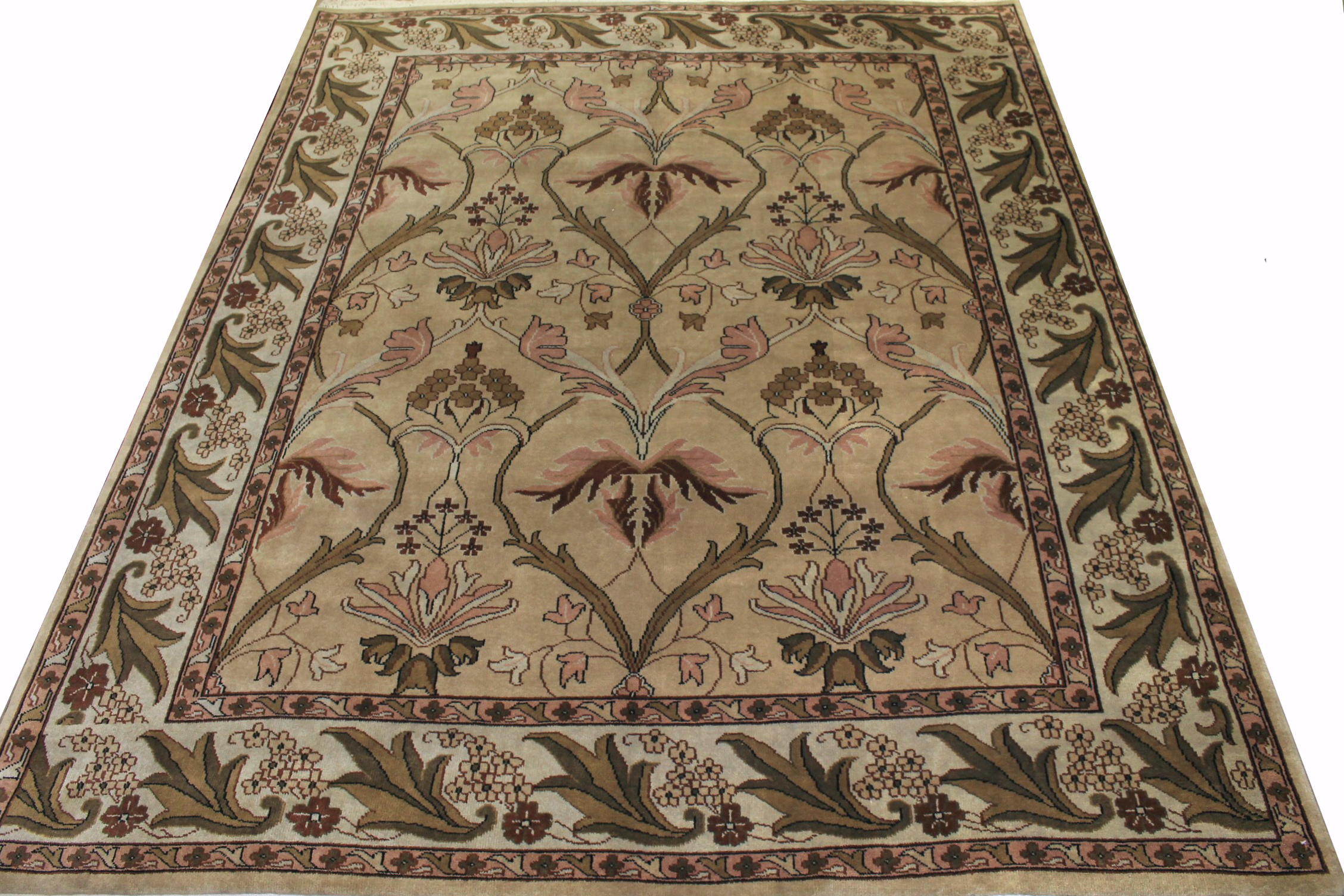 8x10 Traditional Hand Knotted Wool Area Rug - MR0013