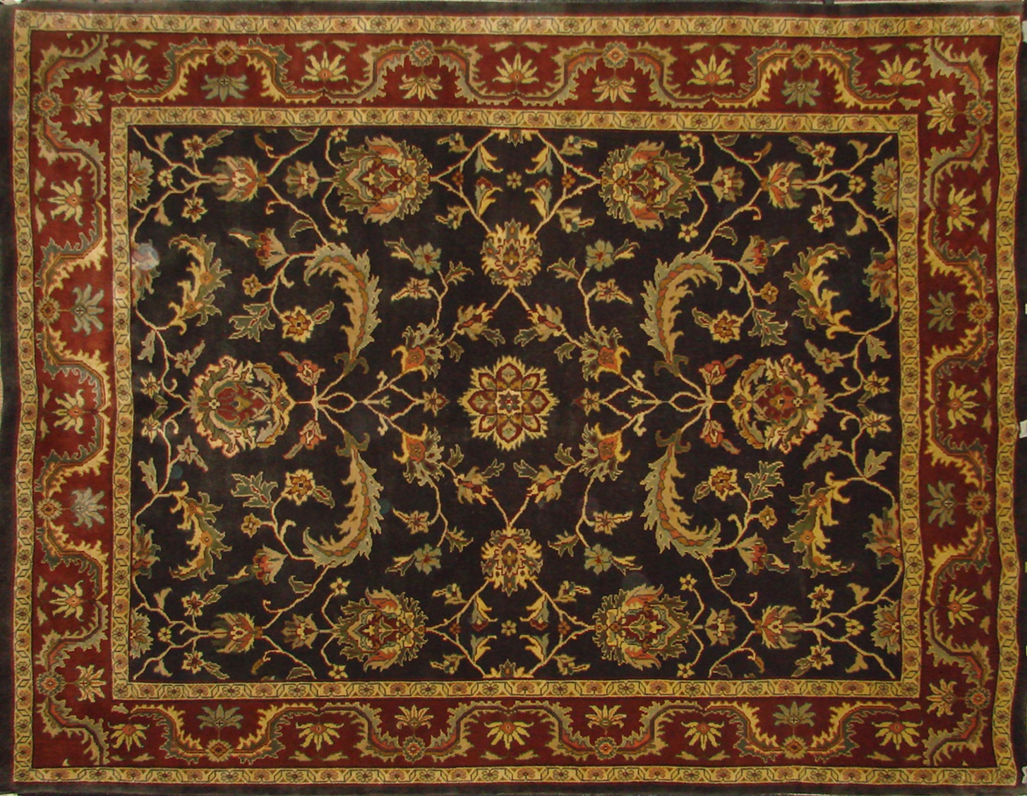 8x10 Traditional Hand Knotted Wool Area Rug - MR0017