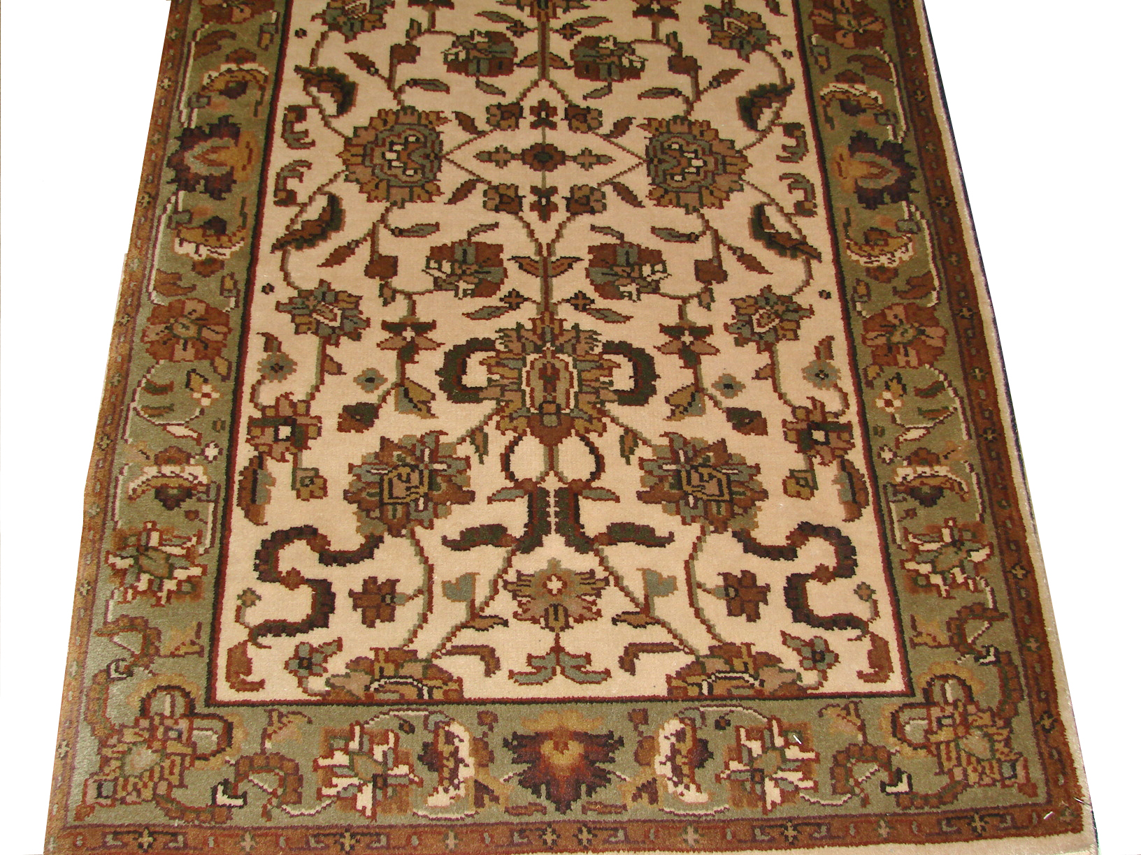 3x5 Traditional Hand Knotted Wool Area Rug - MR0040