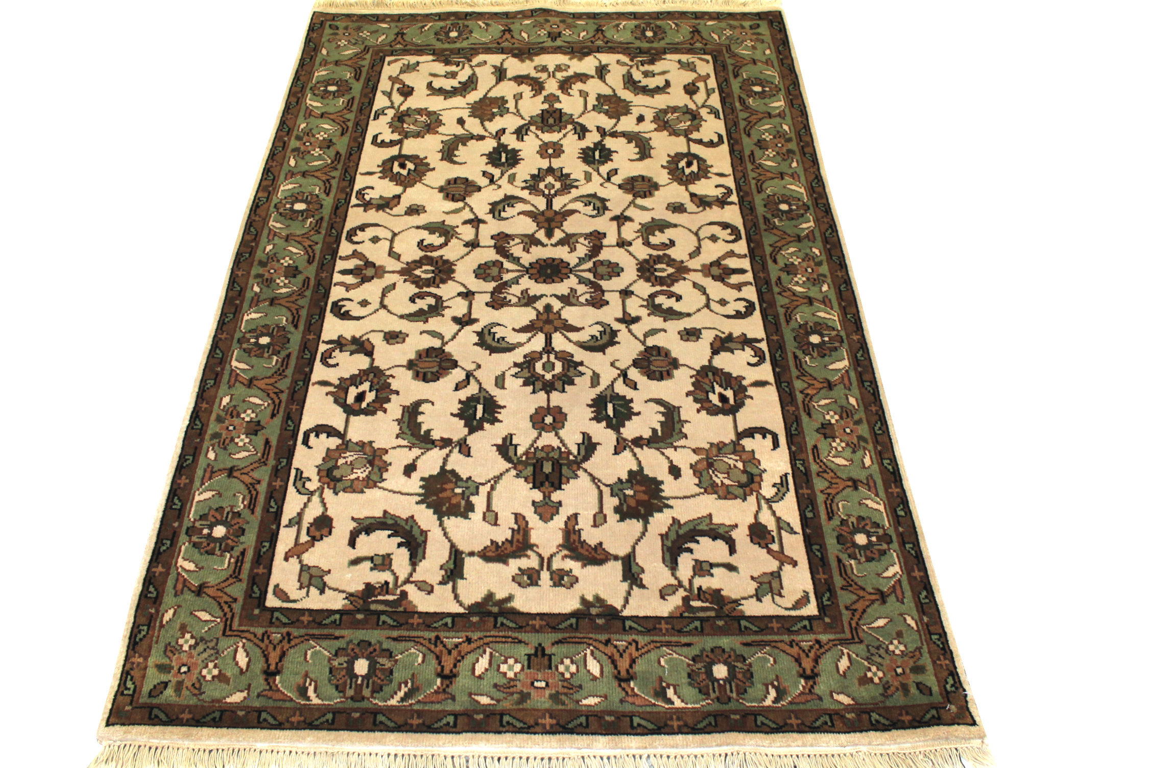 4x6 Traditional Hand Knotted Wool Area Rug - MR0043