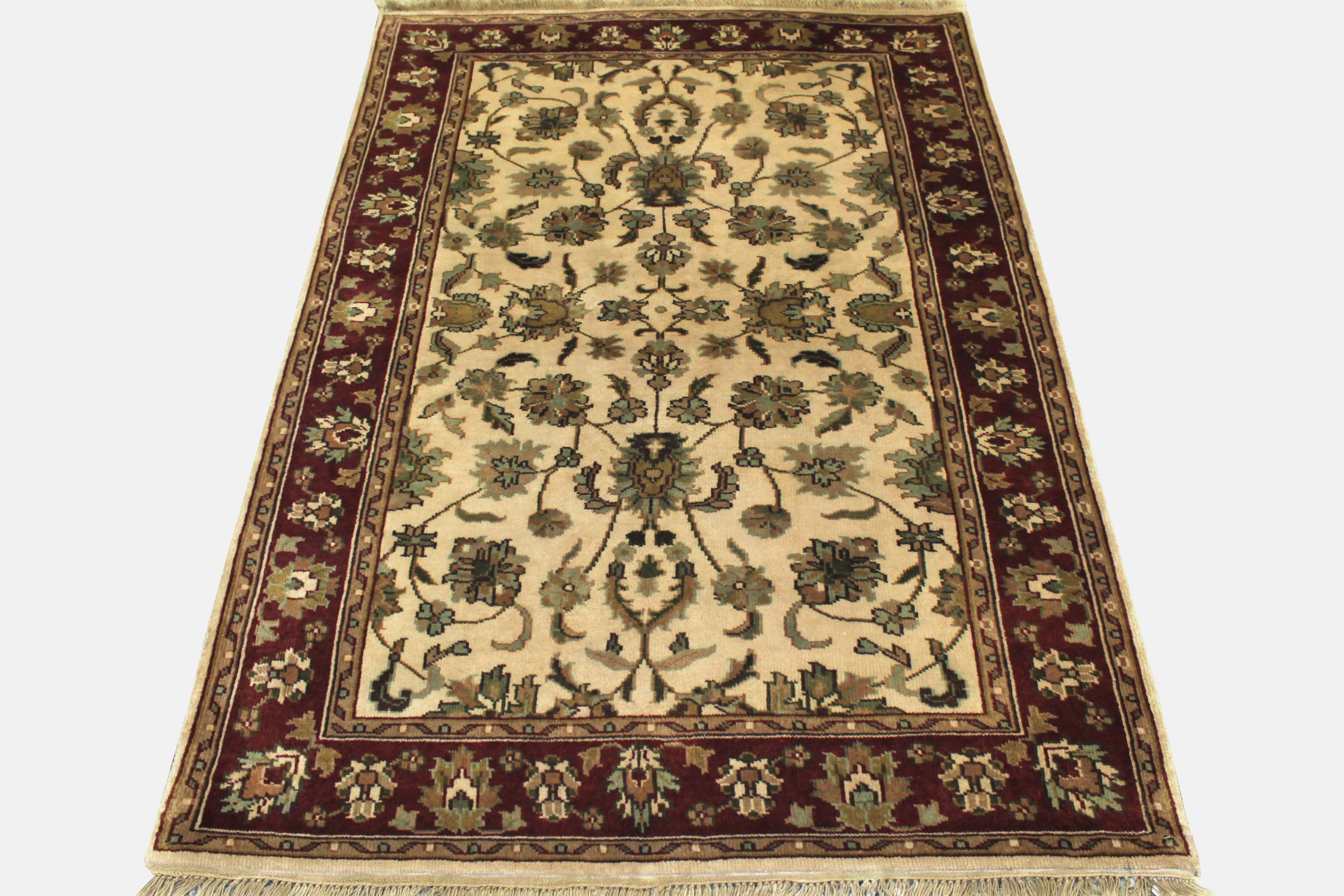 4x6 Traditional Hand Knotted Wool Area Rug - MR0058