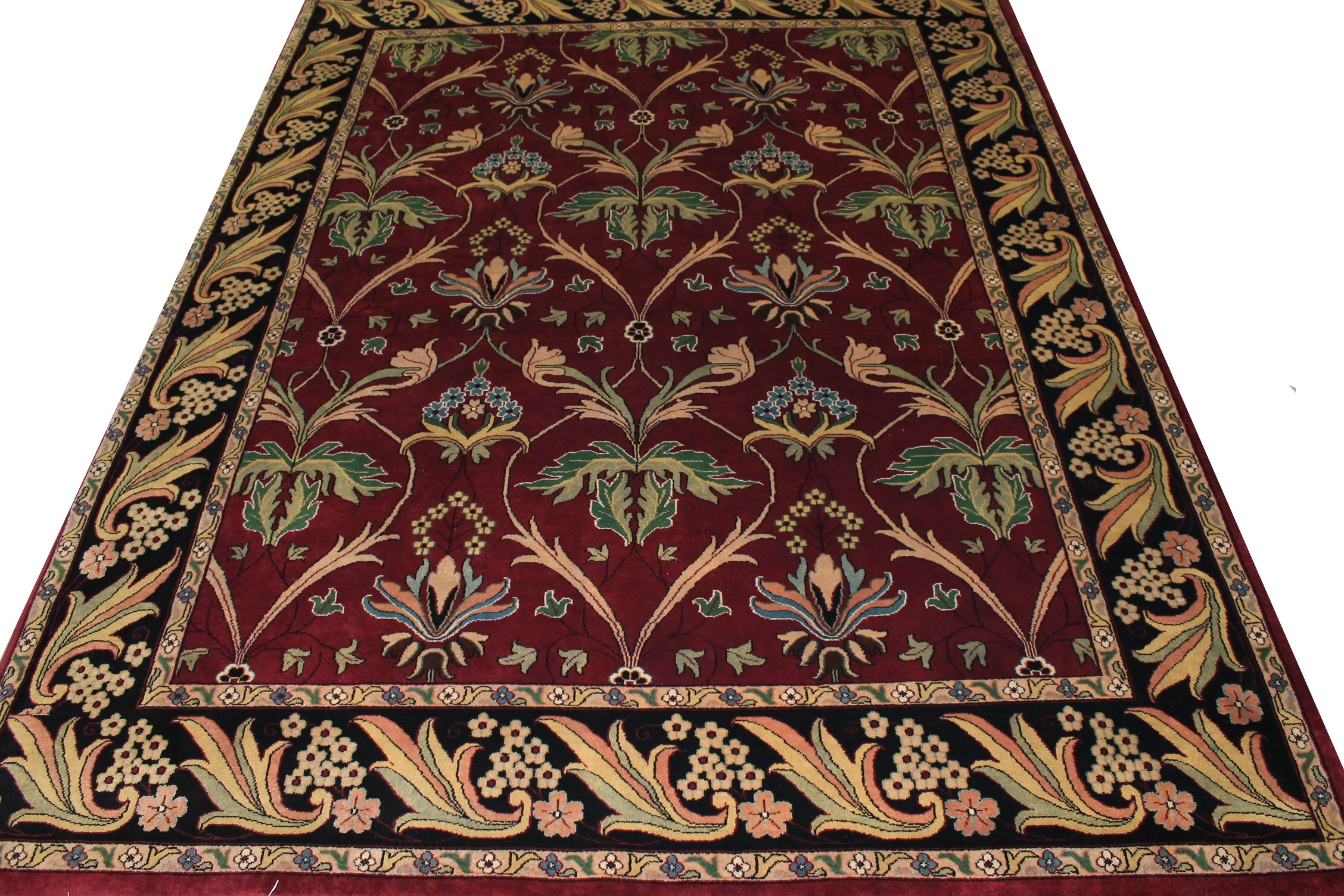 9x12 Traditional Hand Knotted Wool Area Rug - MR0105
