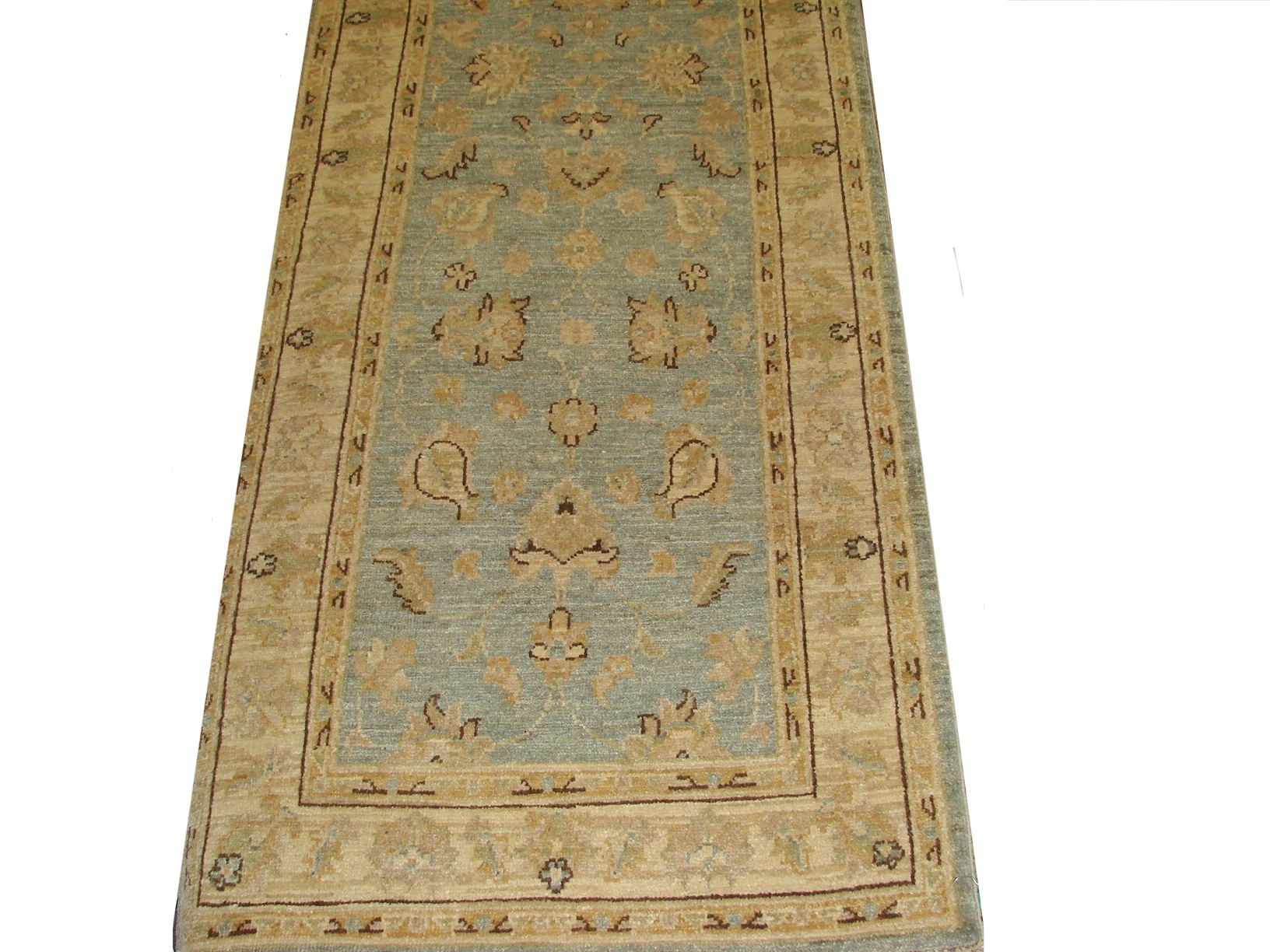 10 ft. Runner Peshawar Hand Knotted Wool Area Rug - MR012017
