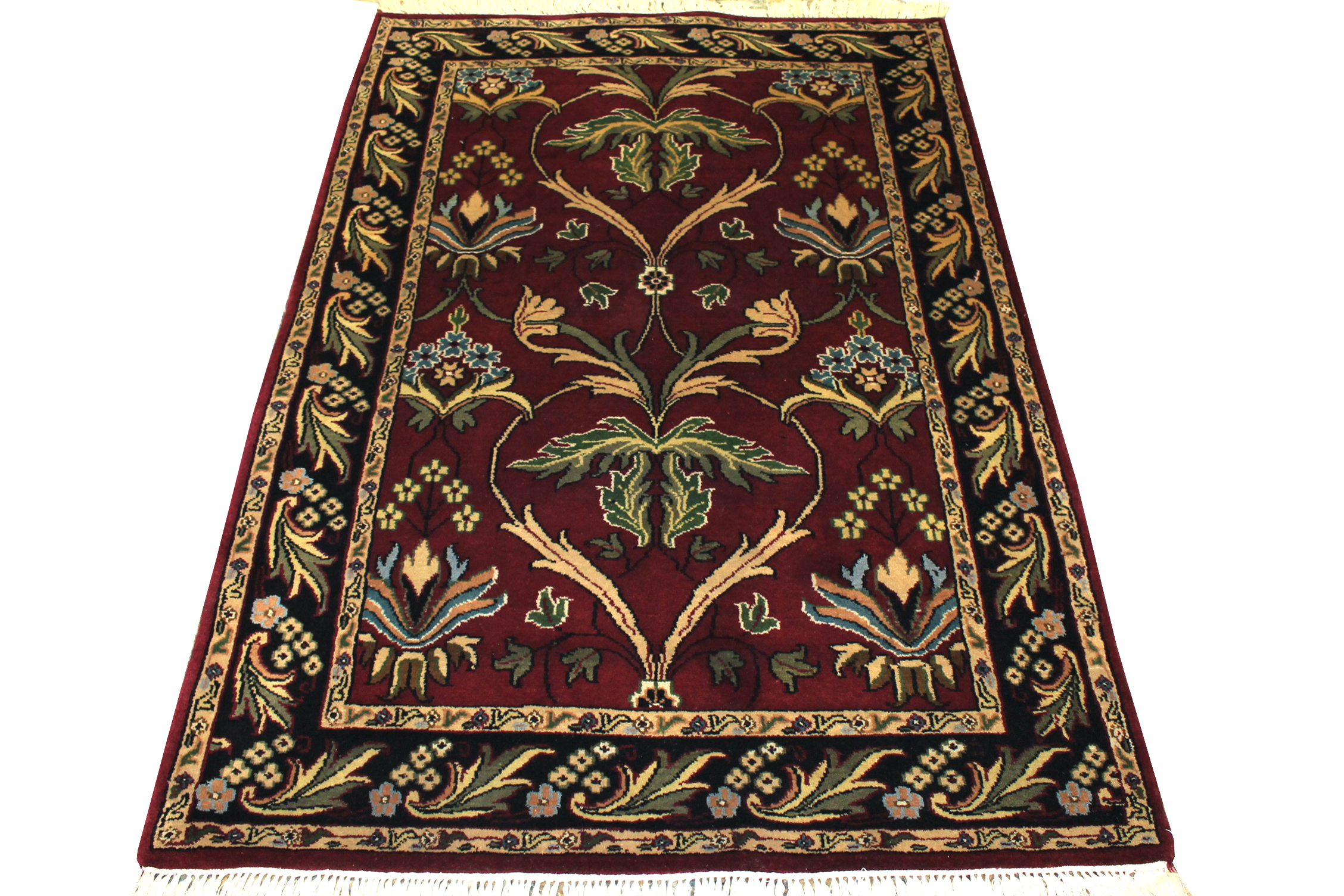 4x6 Traditional Hand Knotted Wool Area Rug - MR0129