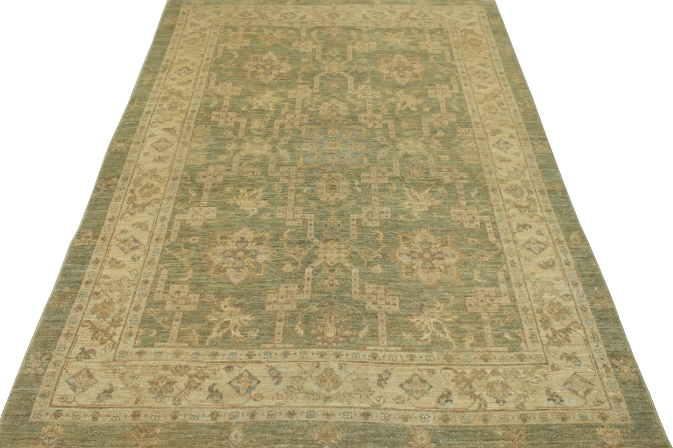 5x7/8 Peshawar Hand Knotted Wool Area Rug - MR013311