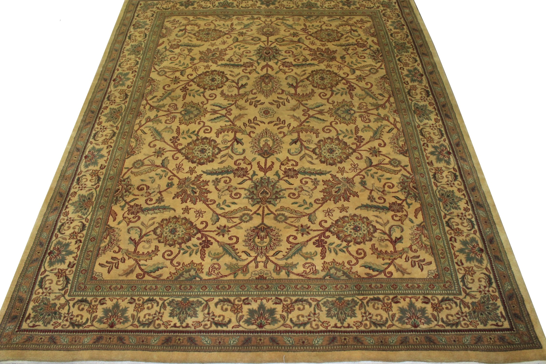 8x10 Traditional Hand Knotted Wool Area Rug - MR0151