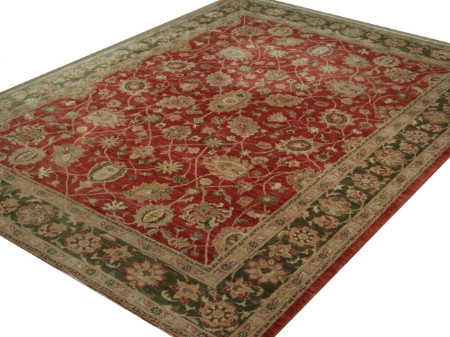 9x12 Peshawar Hand Knotted Wool Area Rug - MR015708