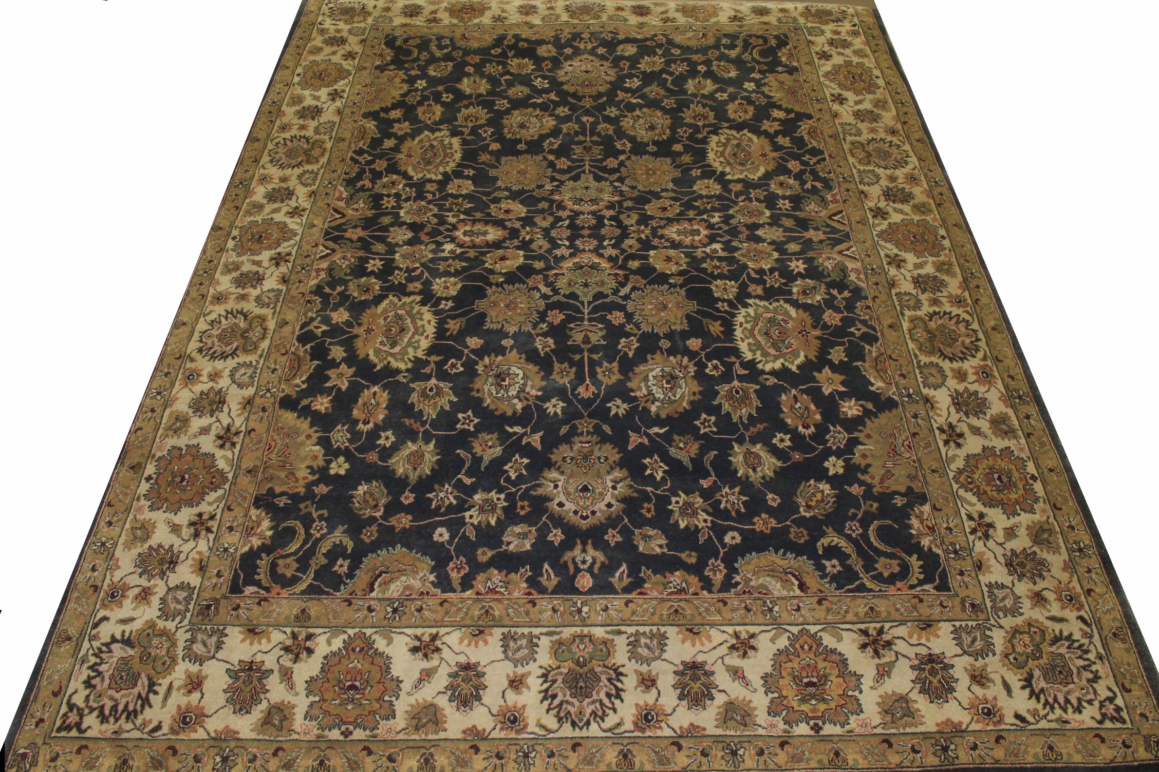 9x12 Traditional Hand Knotted Wool Area Rug - MR0178