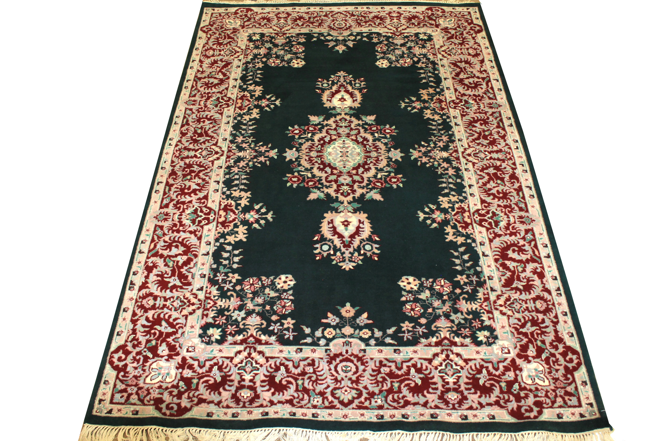 6x9 Traditional Hand Knotted Wool Area Rug - MR0182