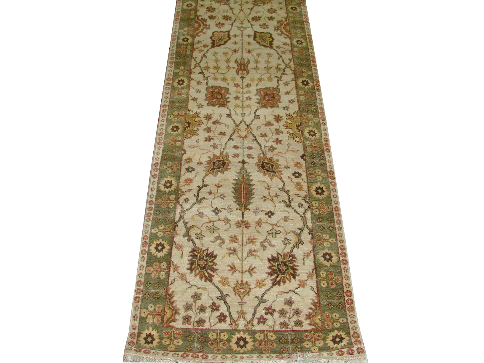 12 ft. Runner Traditional Hand Knotted  Area Rug - MR018643