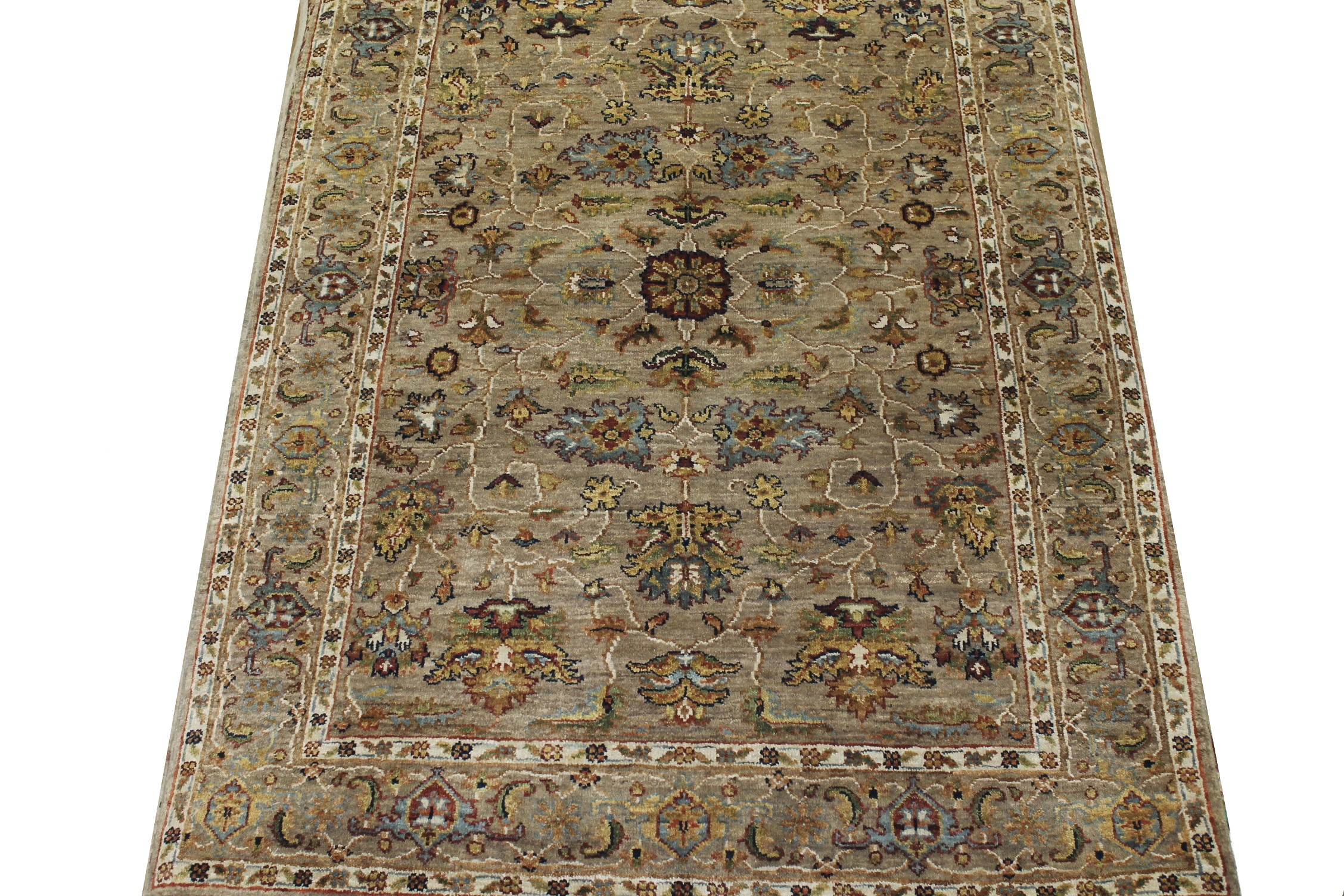 4x6 Antique Revival Hand Knotted Wool Area Rug - MR018796