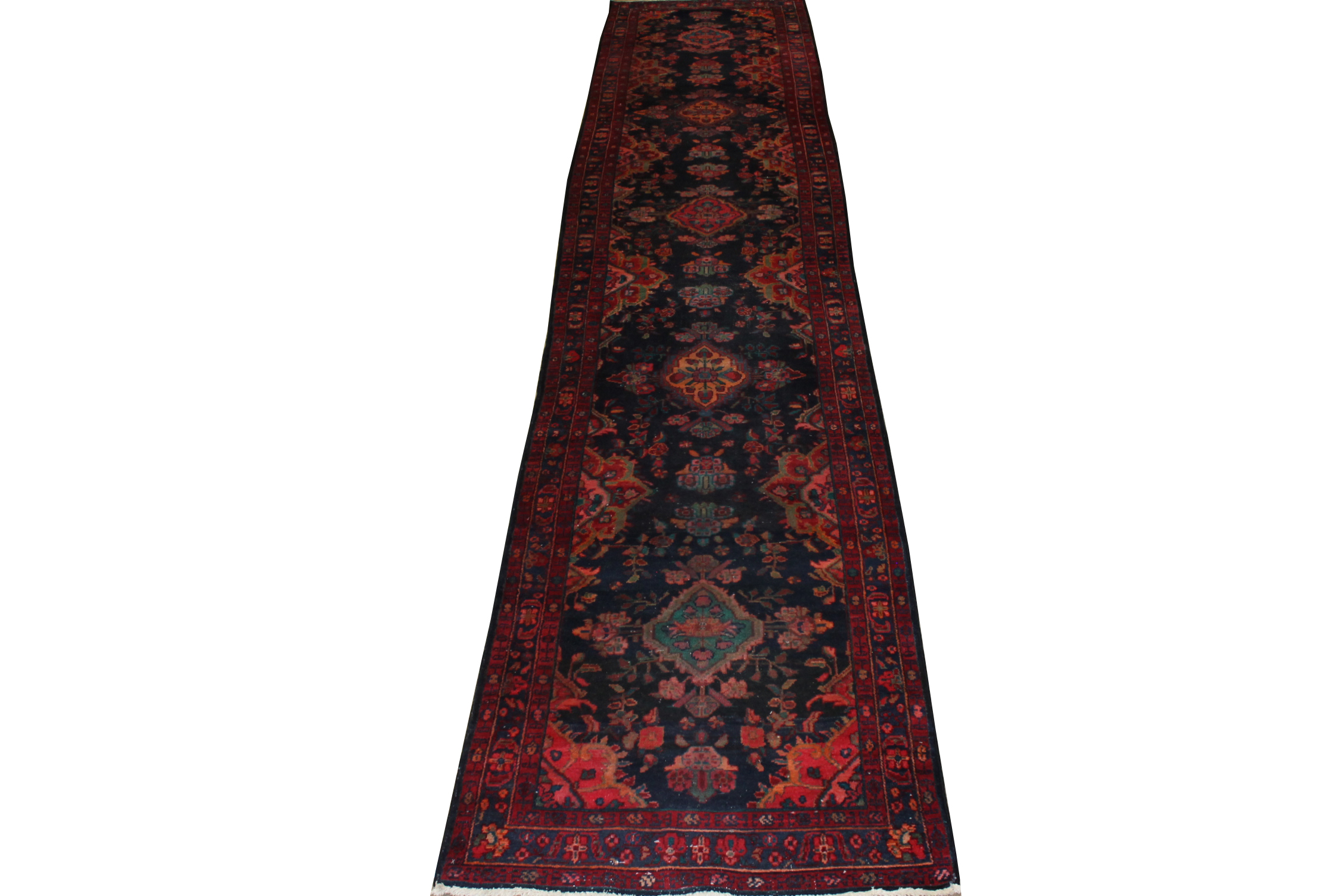 13 ft. & Longer Runner Traditional Hand Knotted Wool Area Rug - MR020022