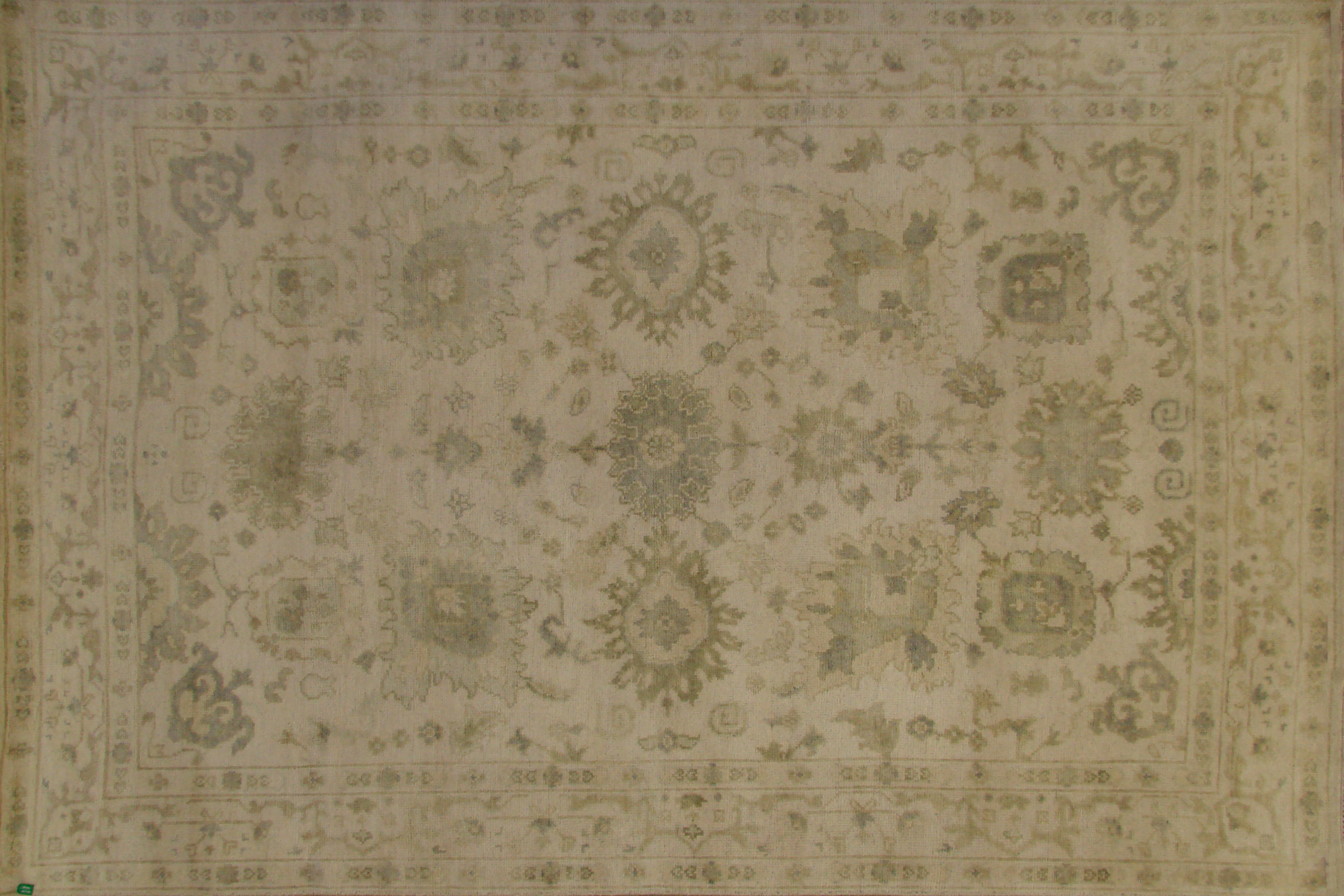 6x9 Oushak Hand Knotted Wool Area Rug - MR020169