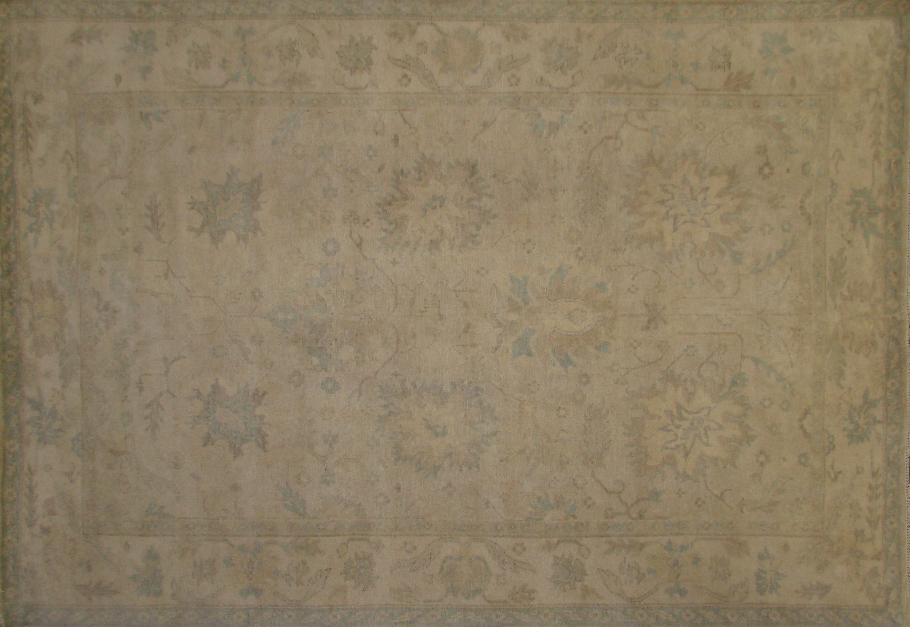 6x9 Oushak Hand Knotted Wool Area Rug - MR020174