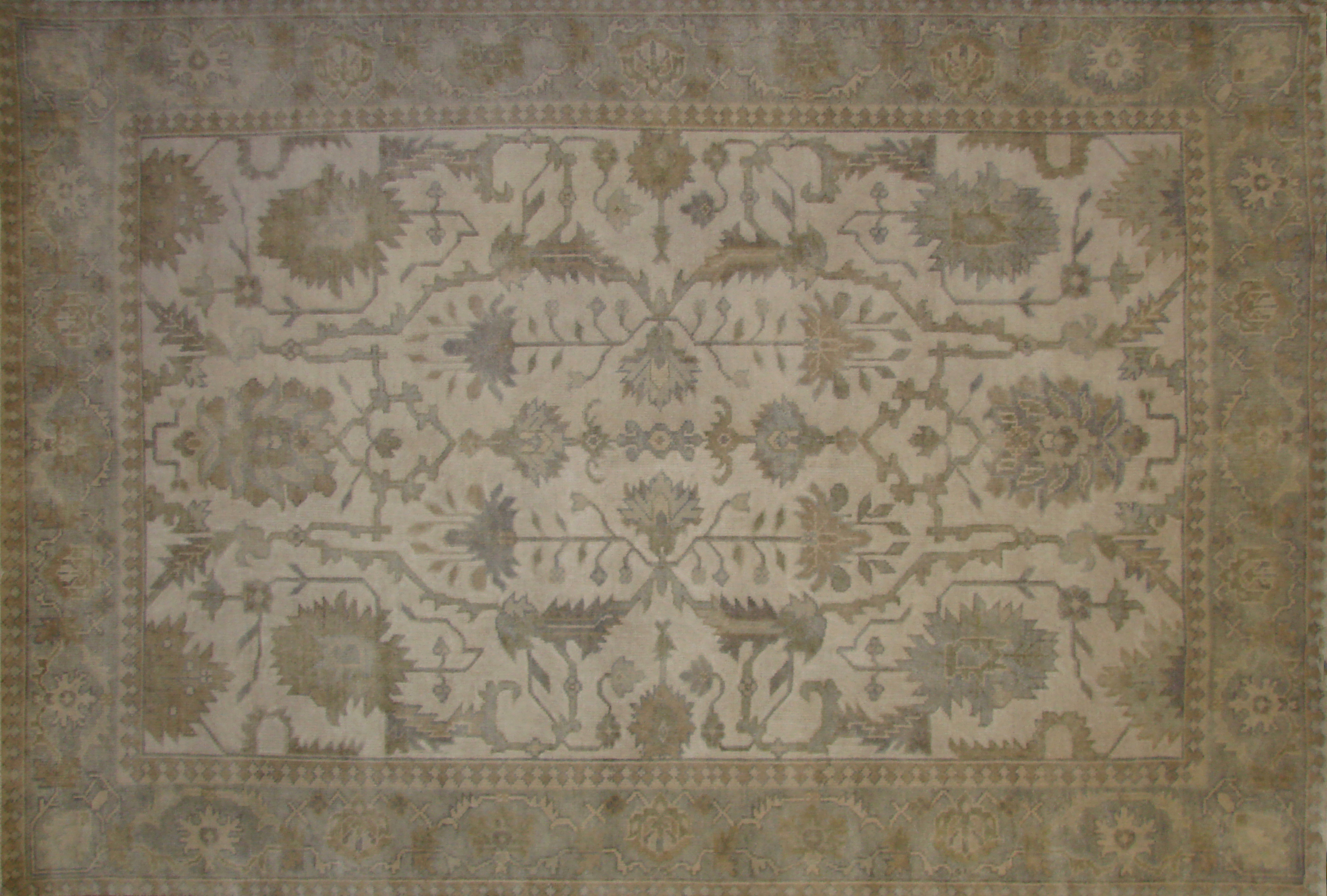 6x9 Oushak Hand Knotted Wool Area Rug - MR020180