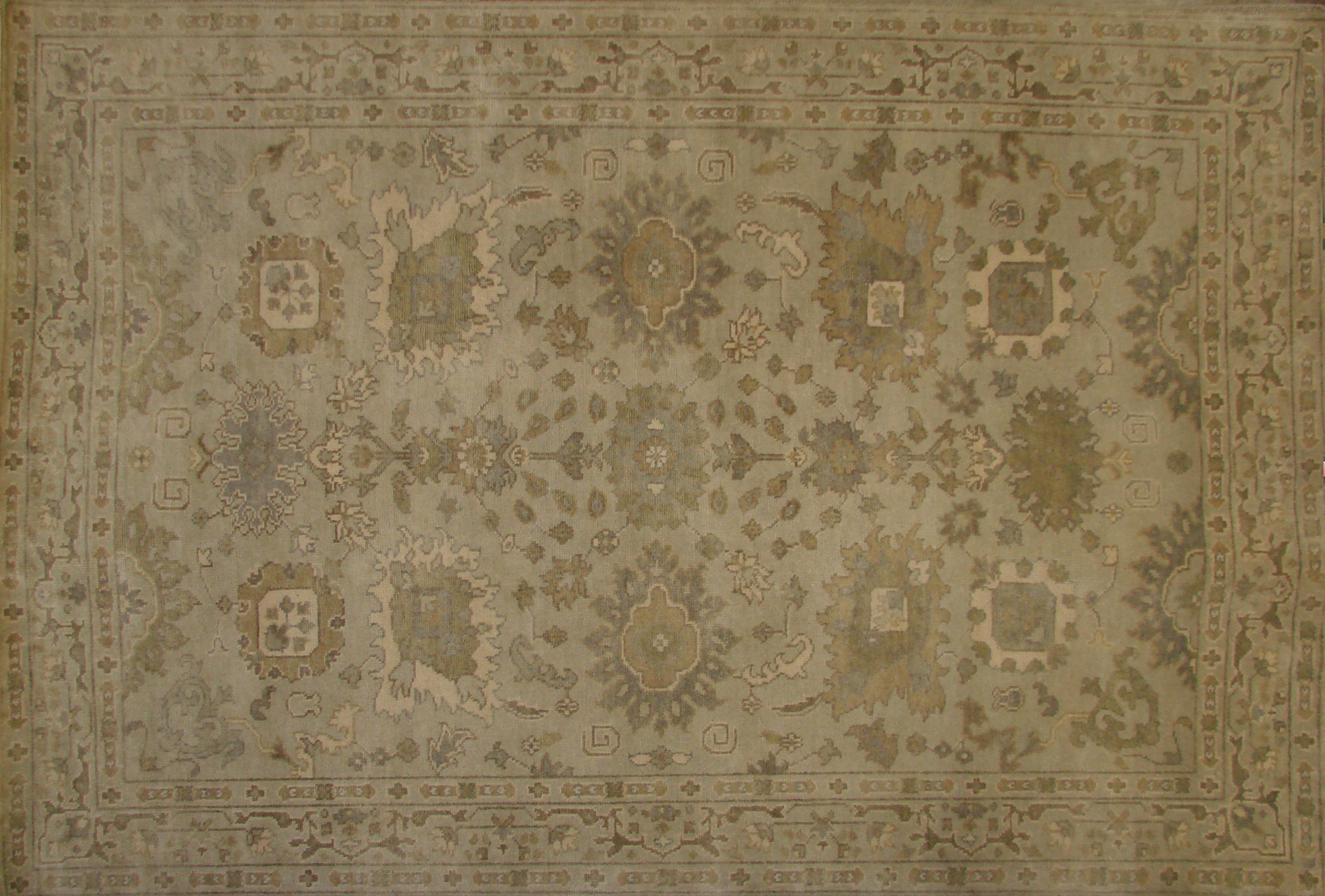 6x9 Oushak Hand Knotted Wool Area Rug - MR020181