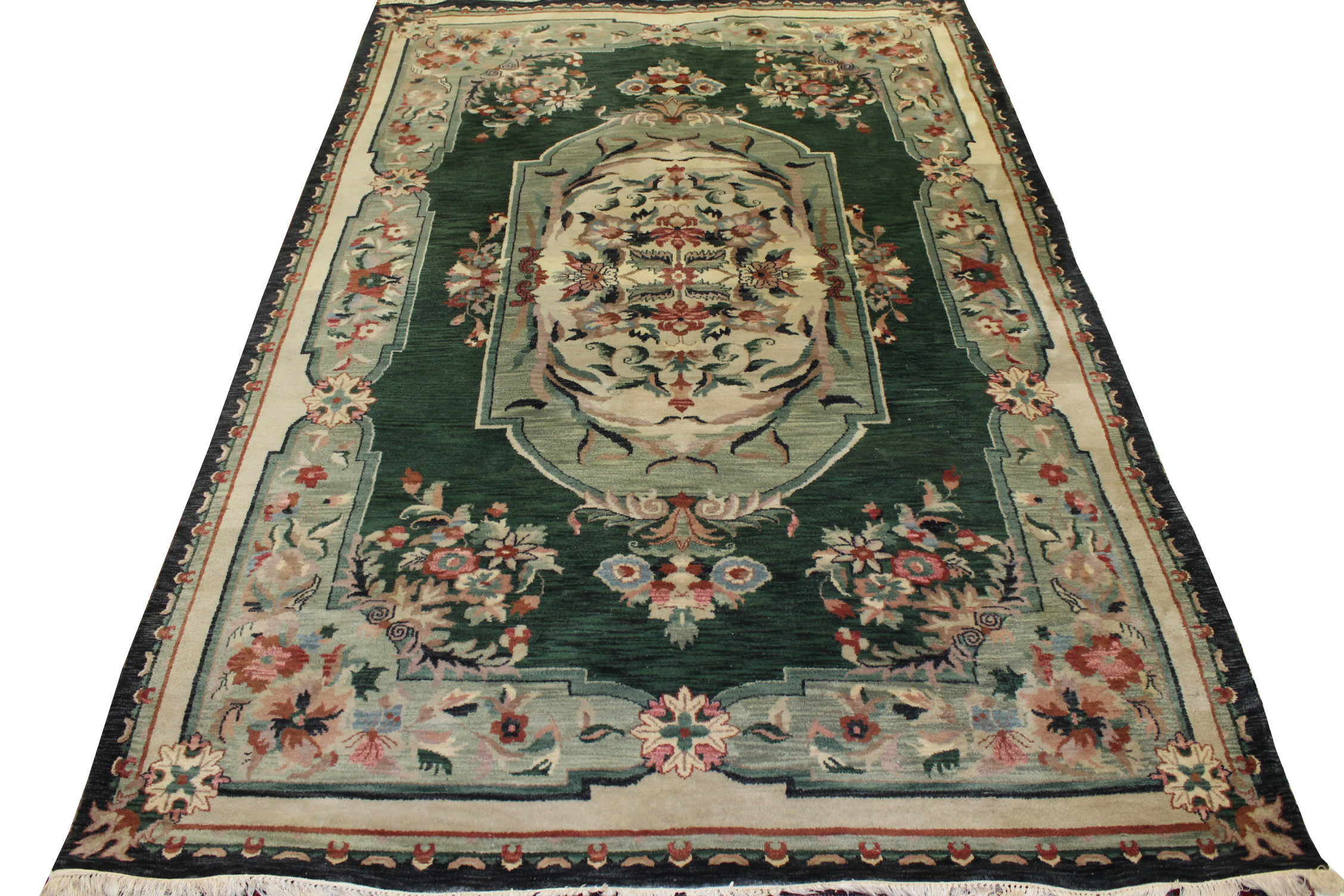 6x9 Traditional Hand Knotted Wool Area Rug - MR020187