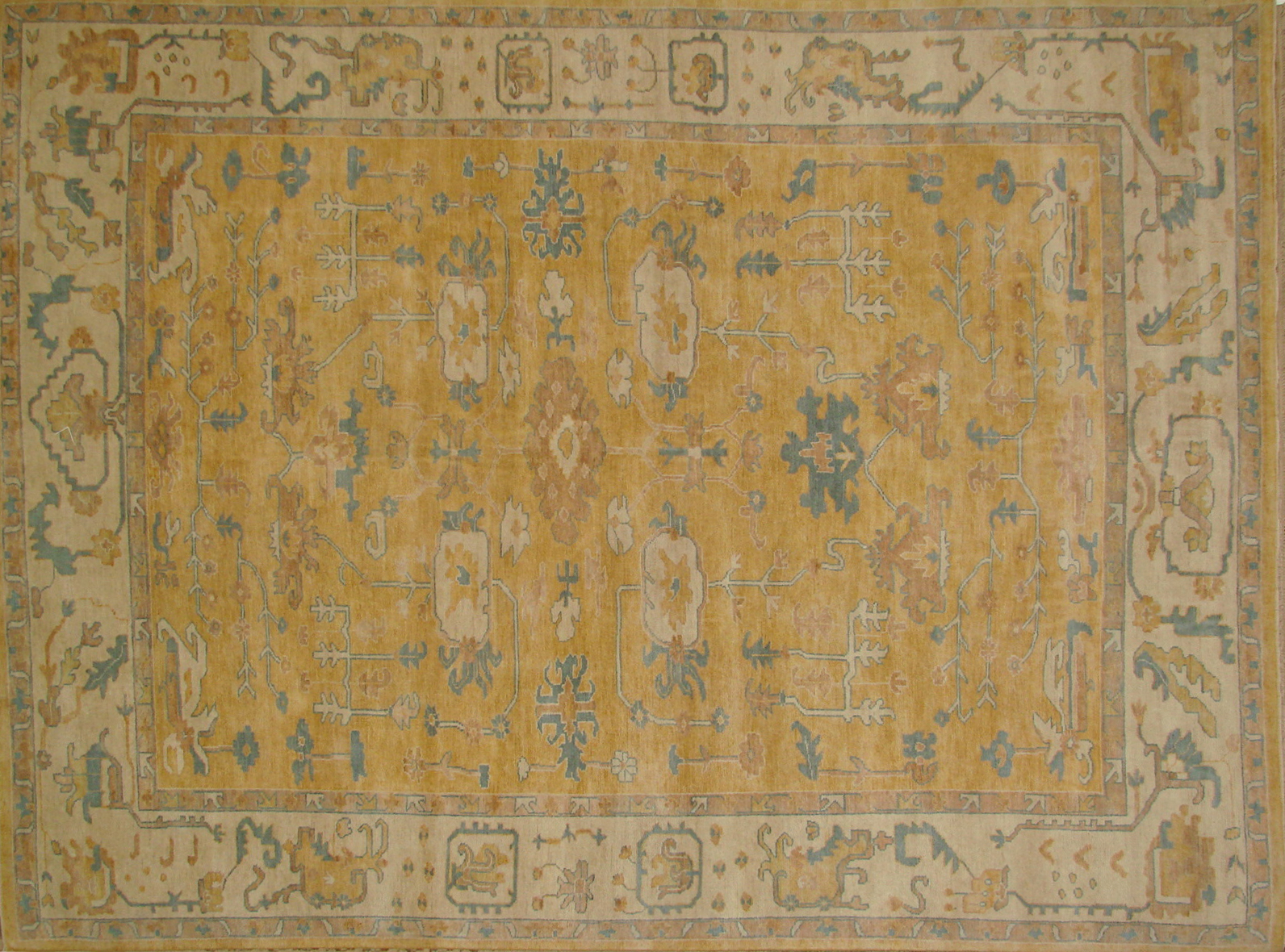 9x12 Oushak Hand Knotted Wool Area Rug - MR020829