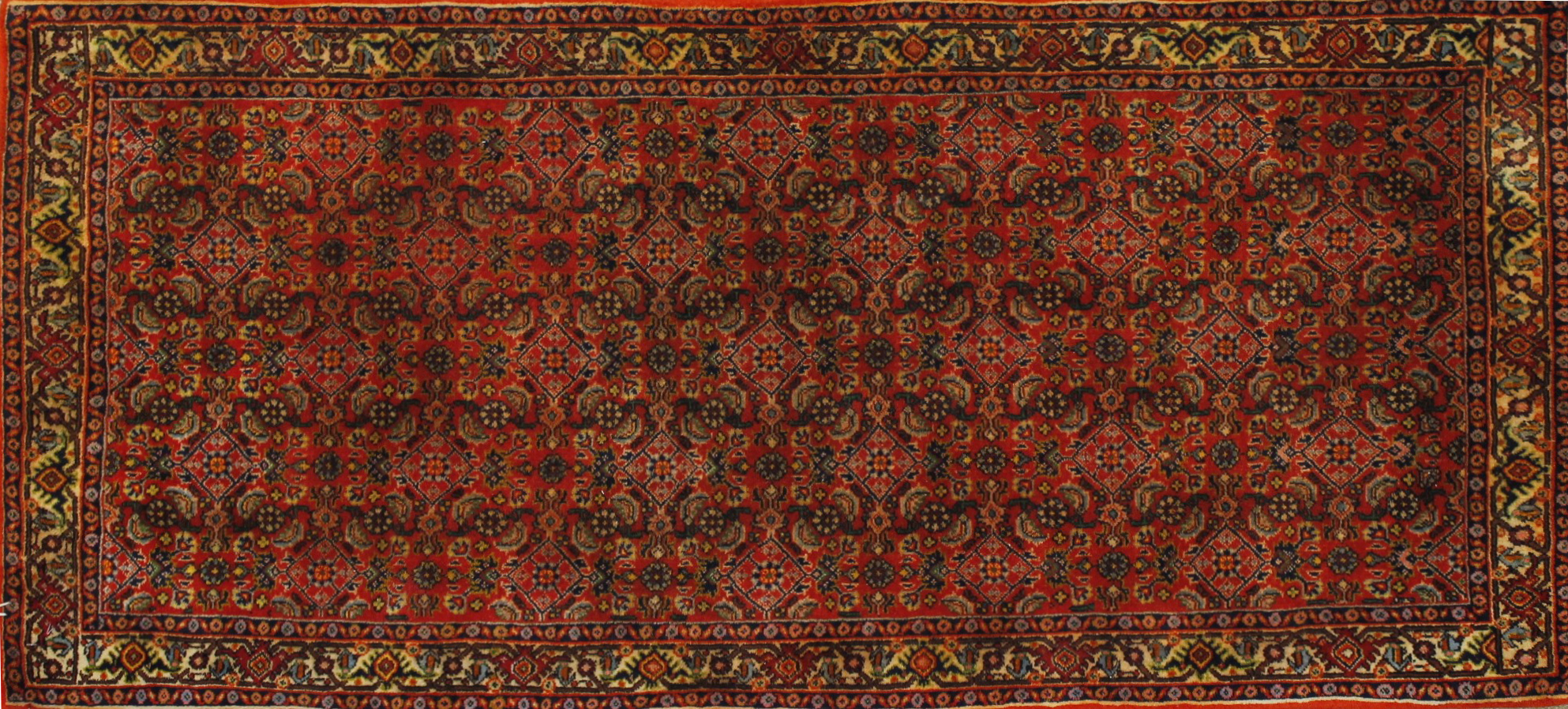2X4 Floral Hand Knotted Wool Area Rug - MR021313
