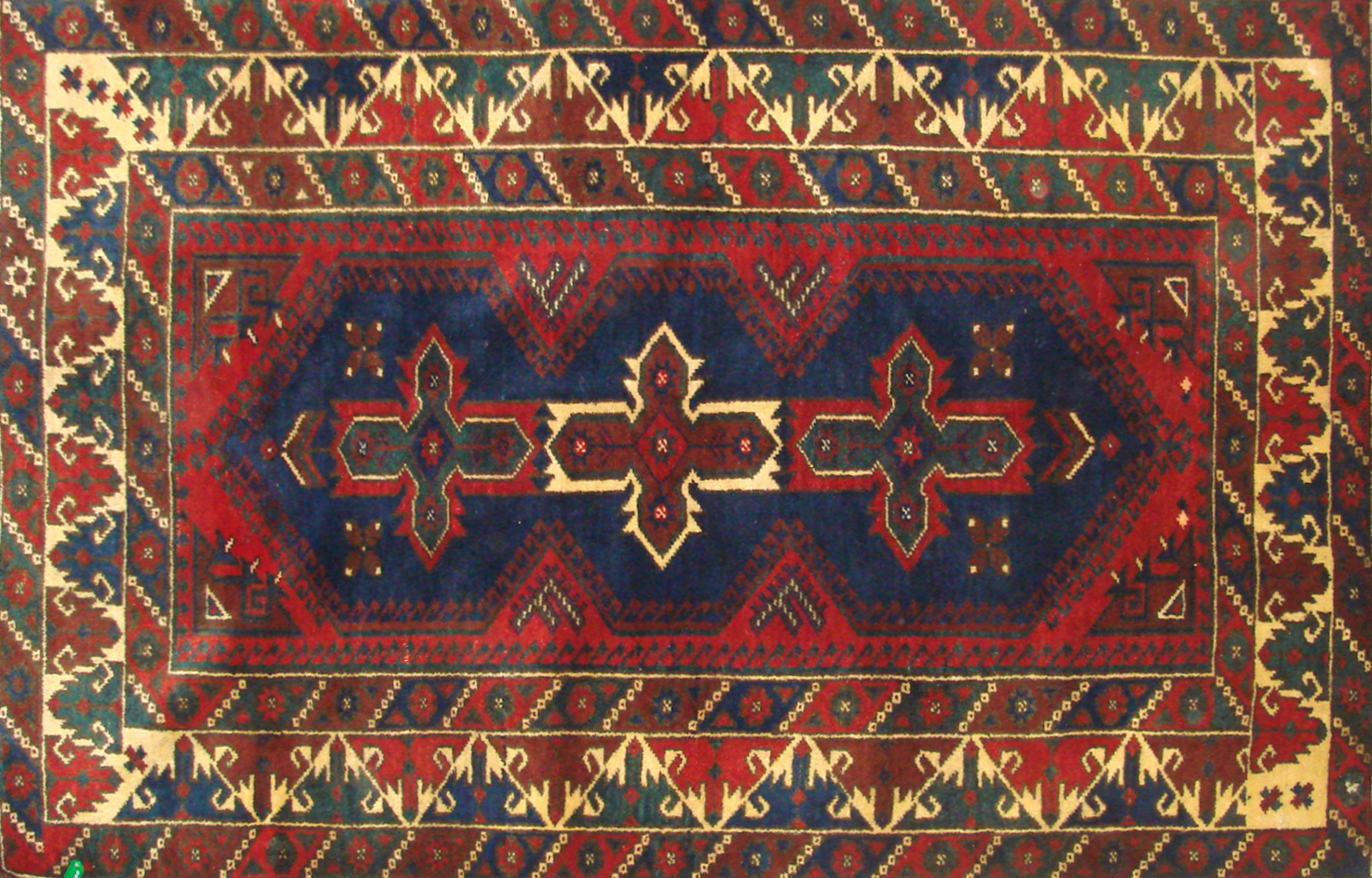 4x6 Oushak Hand Knotted Wool Area Rug - MR021359