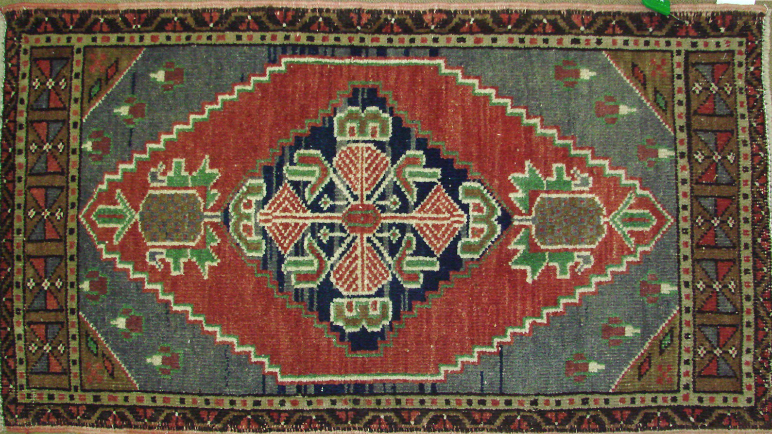 2X3 Oushak Hand Knotted Wool Area Rug - MR021365