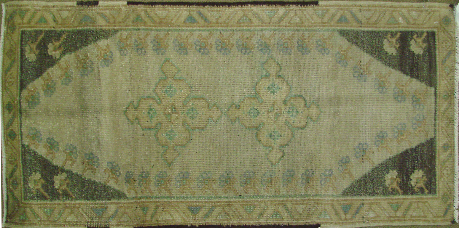 2X3 Oushak Hand Knotted Wool Area Rug - MR021373