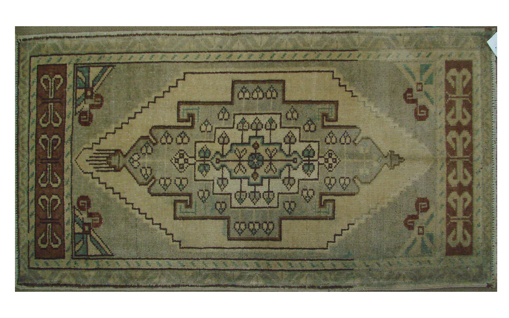2X3 Oushak Hand Knotted Wool Area Rug - MR021384