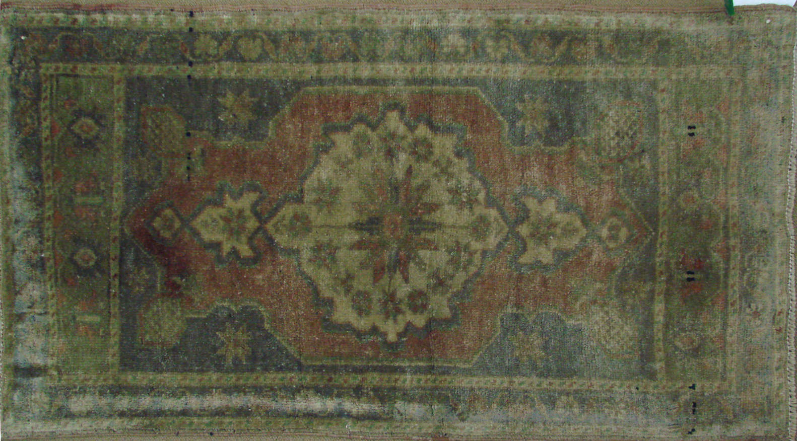 2X3 Oushak Hand Knotted Wool Area Rug - MR021391