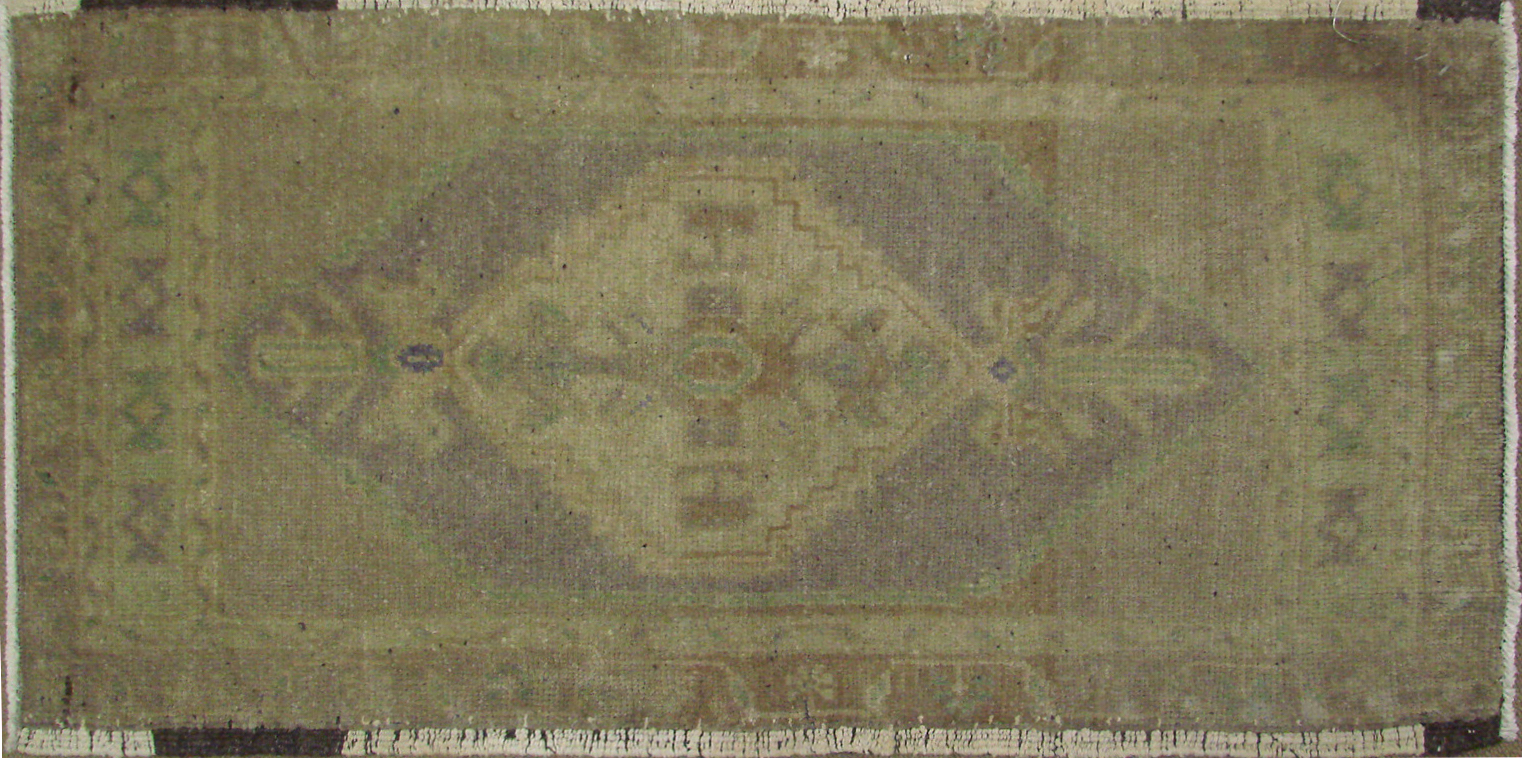 2X3 Oushak Hand Knotted Wool Area Rug - MR021393
