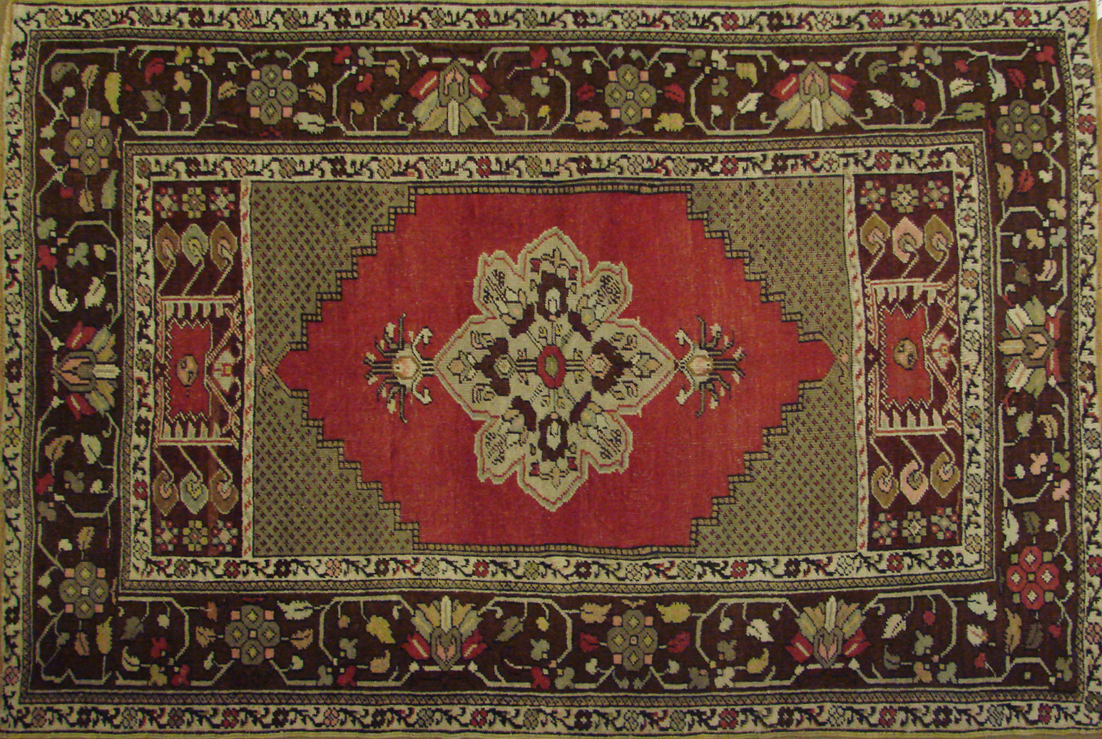 3x5 Oushak Hand Knotted Wool Area Rug - MR021410