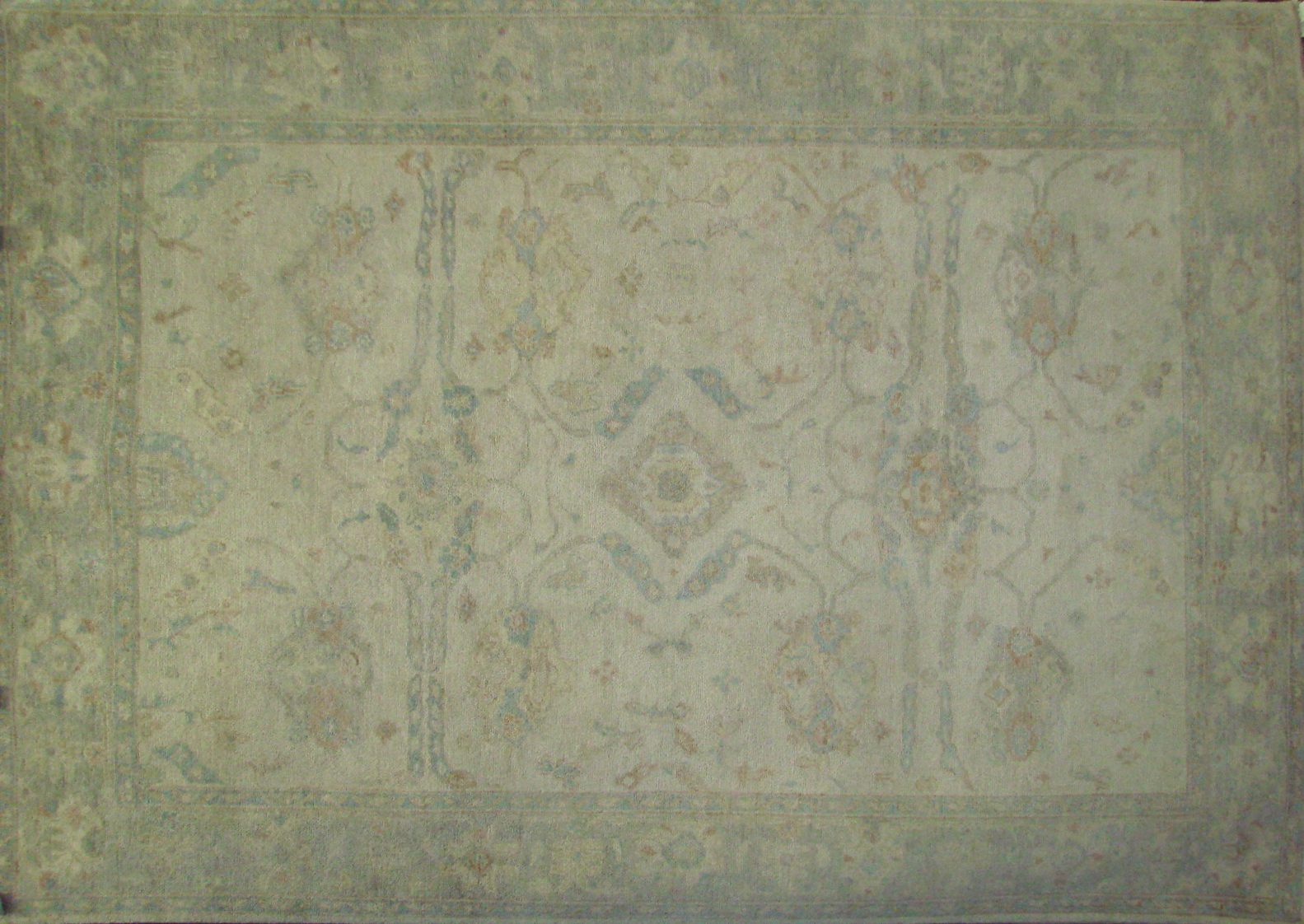 6x9 Oushak Hand Knotted Wool Area Rug - MR021450