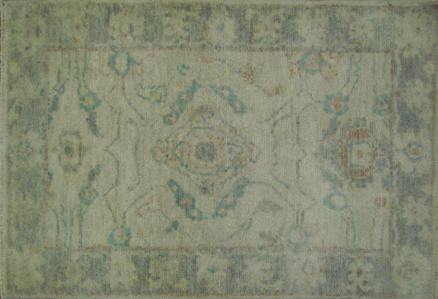 2X3 Oushak Hand Knotted Wool Area Rug - MR021462