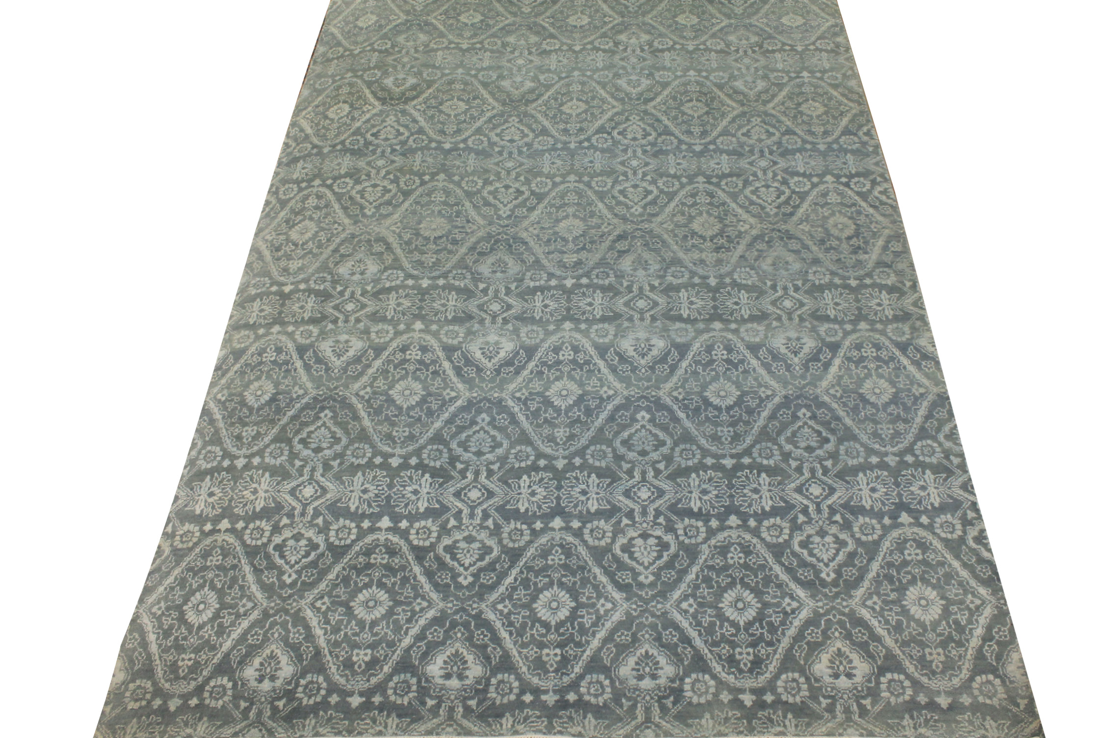 6x9 Contemporary Hand Knotted Wool Area Rug - MR021477