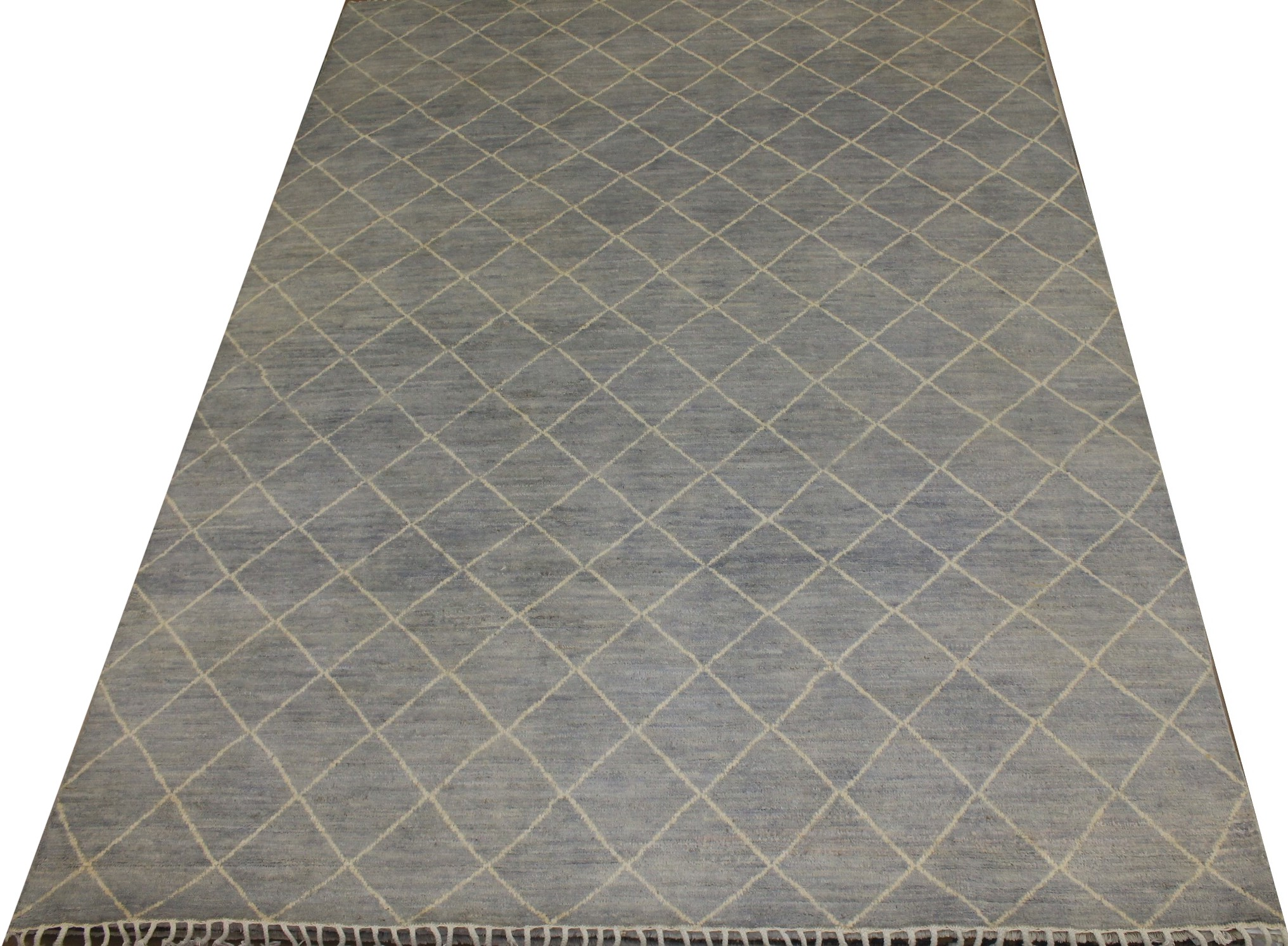 9x12 Contemporary Hand Knotted Wool Area Rug - MR021497