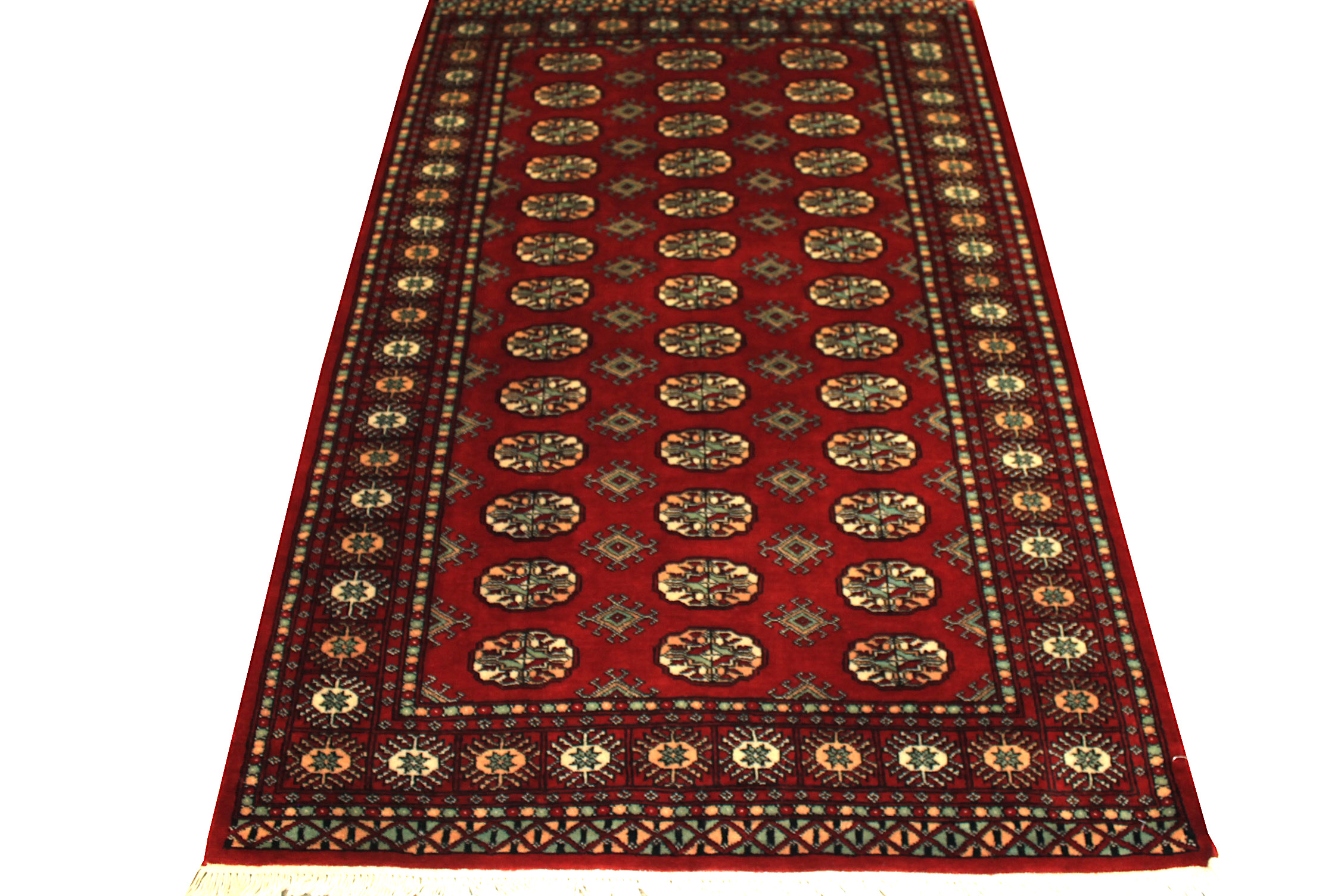 4x6 Bokhara Hand Knotted Wool Area Rug - MR021505