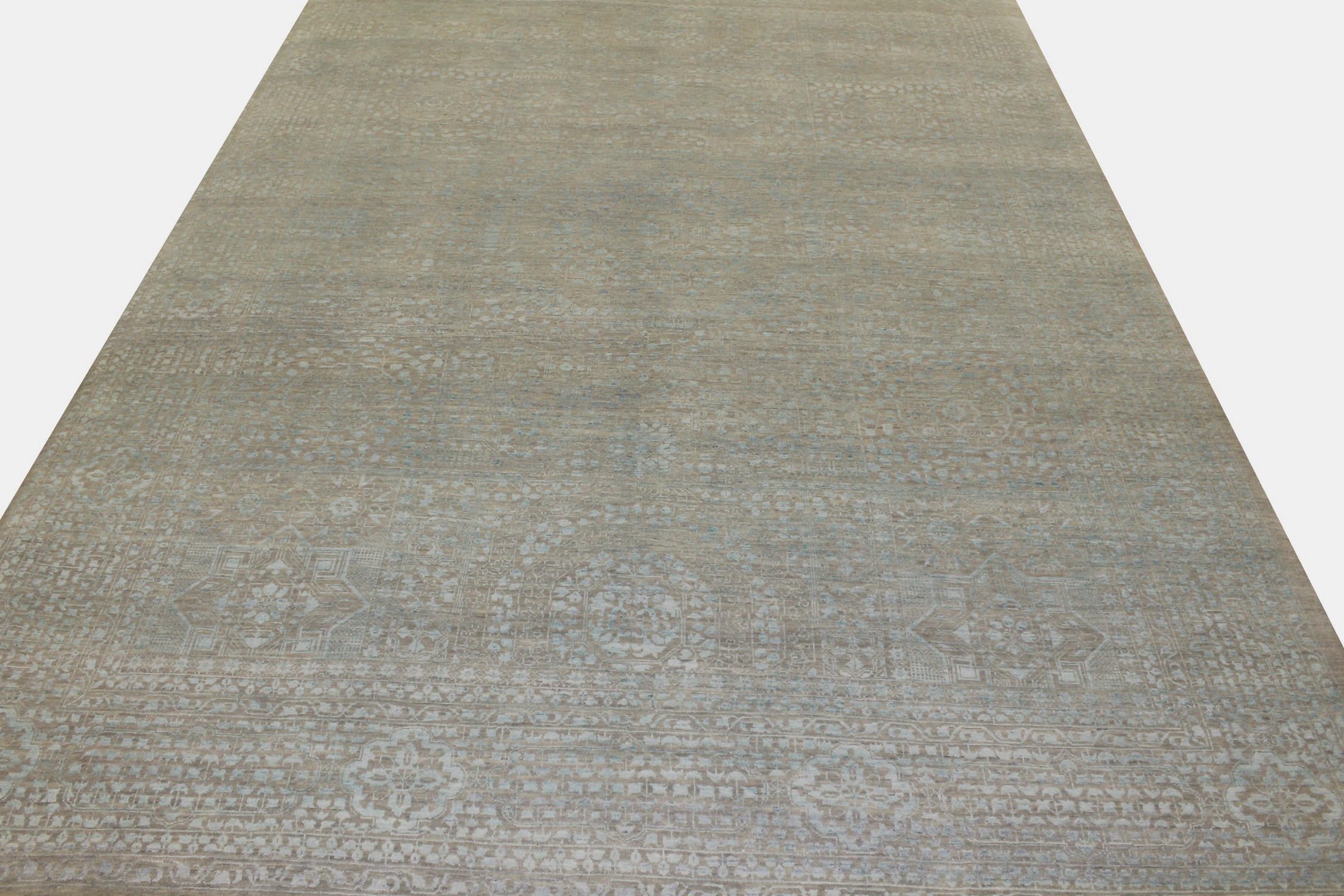 10x14 Contemporary Hand Knotted Wool Area Rug - MR021568