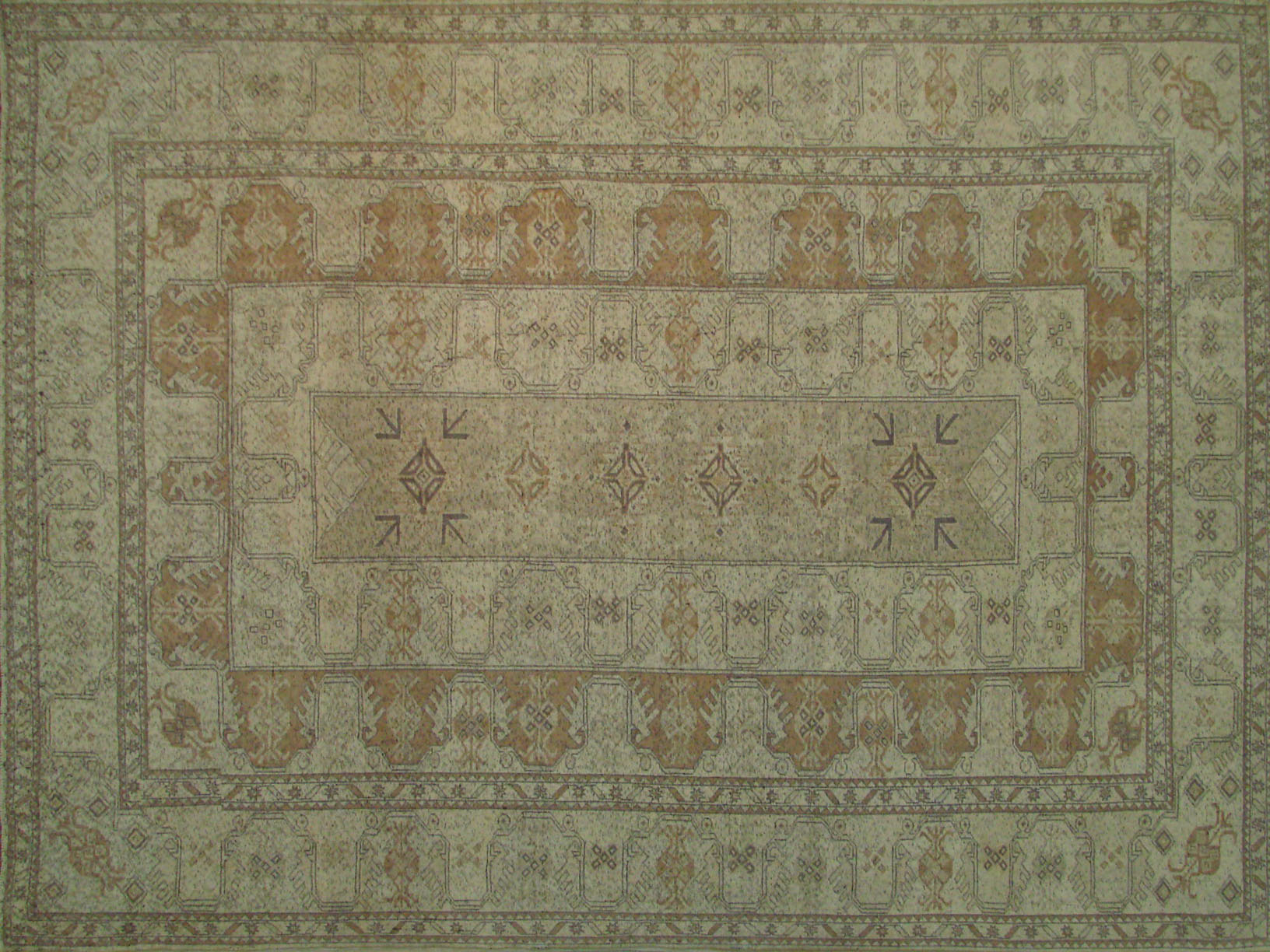8x10 Oushak Hand Knotted Wool Area Rug - MR021649
