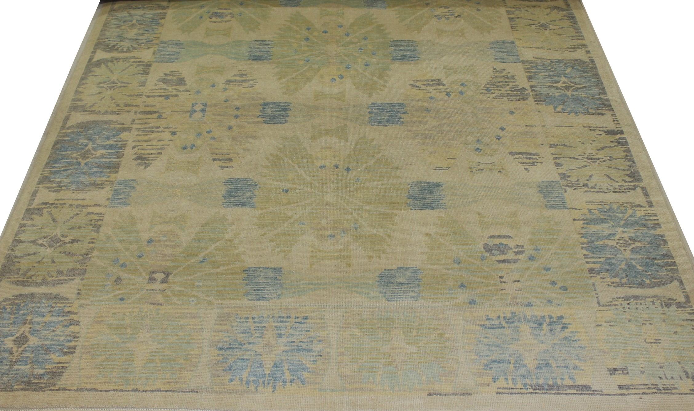 9x12 Oushak Hand Knotted Wool Area Rug - MR021668