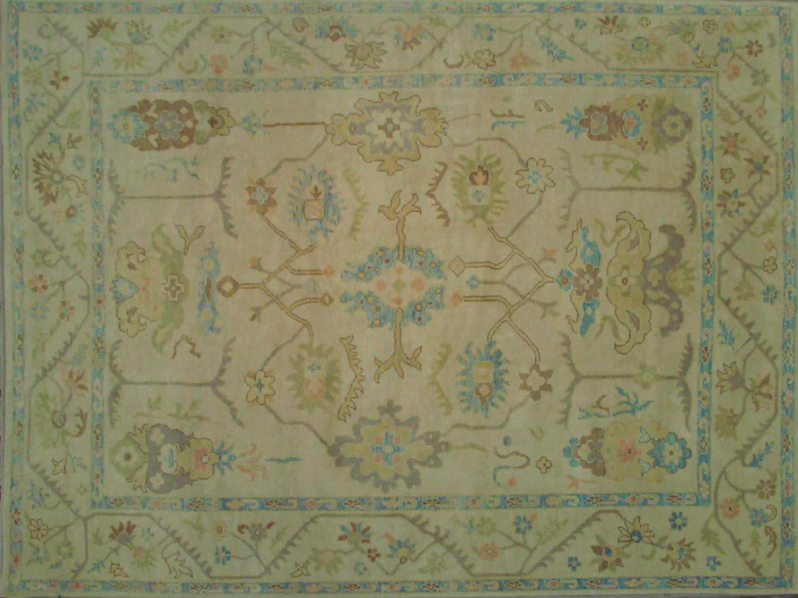 9x12 Oushak Hand Knotted Wool Area Rug - MR021669
