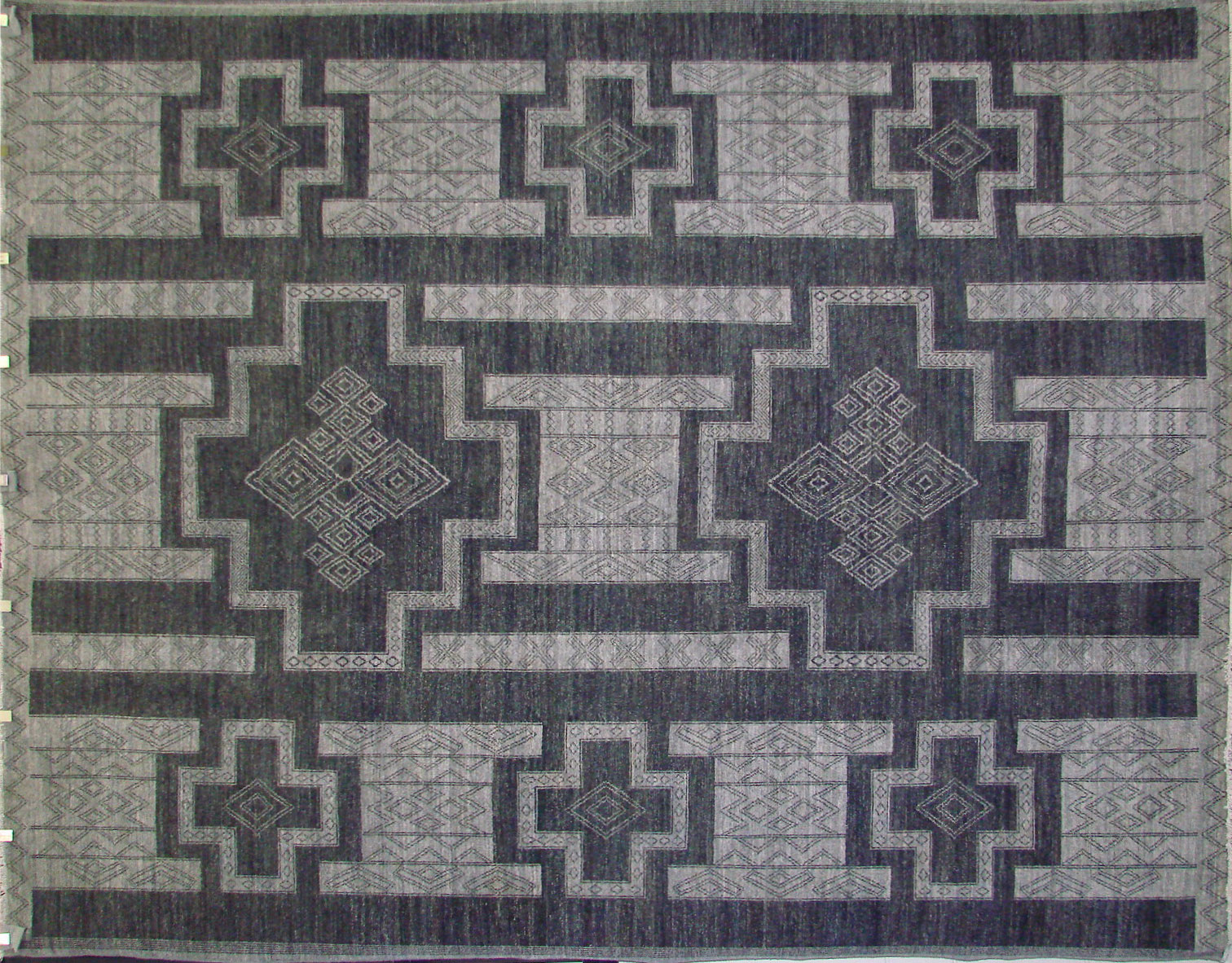 9x12 Contemporary Hand Knotted Wool Area Rug - MR021694