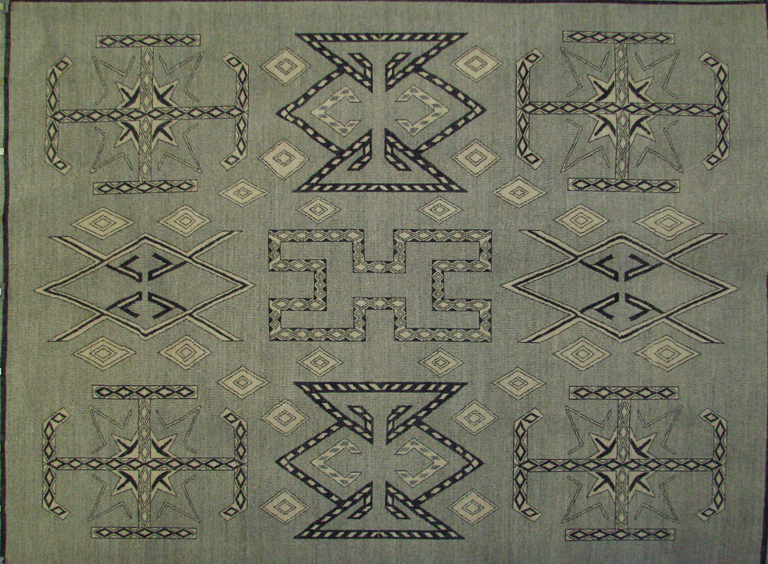 9x12 Contemporary Hand Knotted Wool Area Rug - MR021696