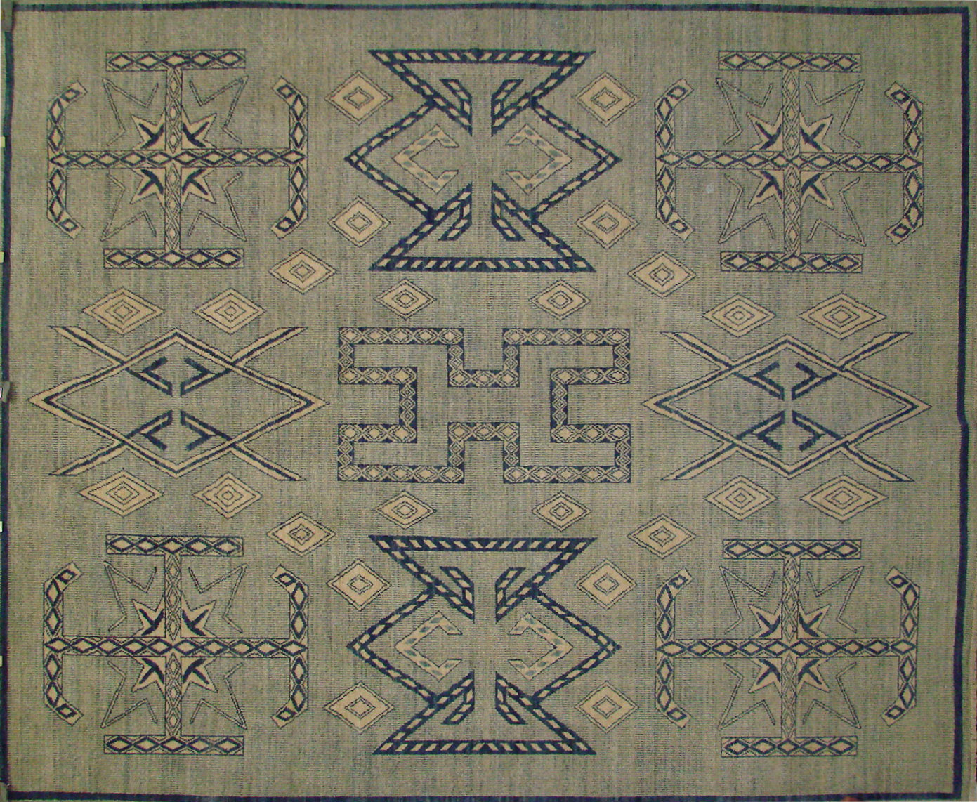 8x10 Contemporary Hand Knotted Wool Area Rug - MR021698
