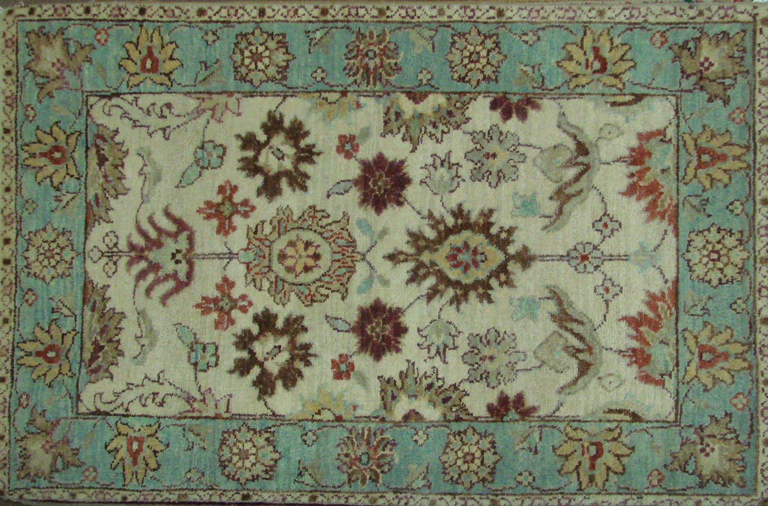 2X3 Traditional Hand Knotted Wool Area Rug - MR021733