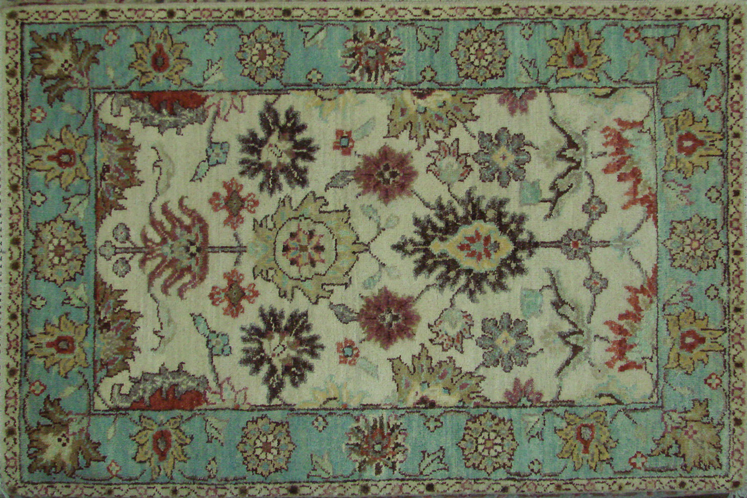 2X3 Traditional Hand Knotted Wool Area Rug - MR021734