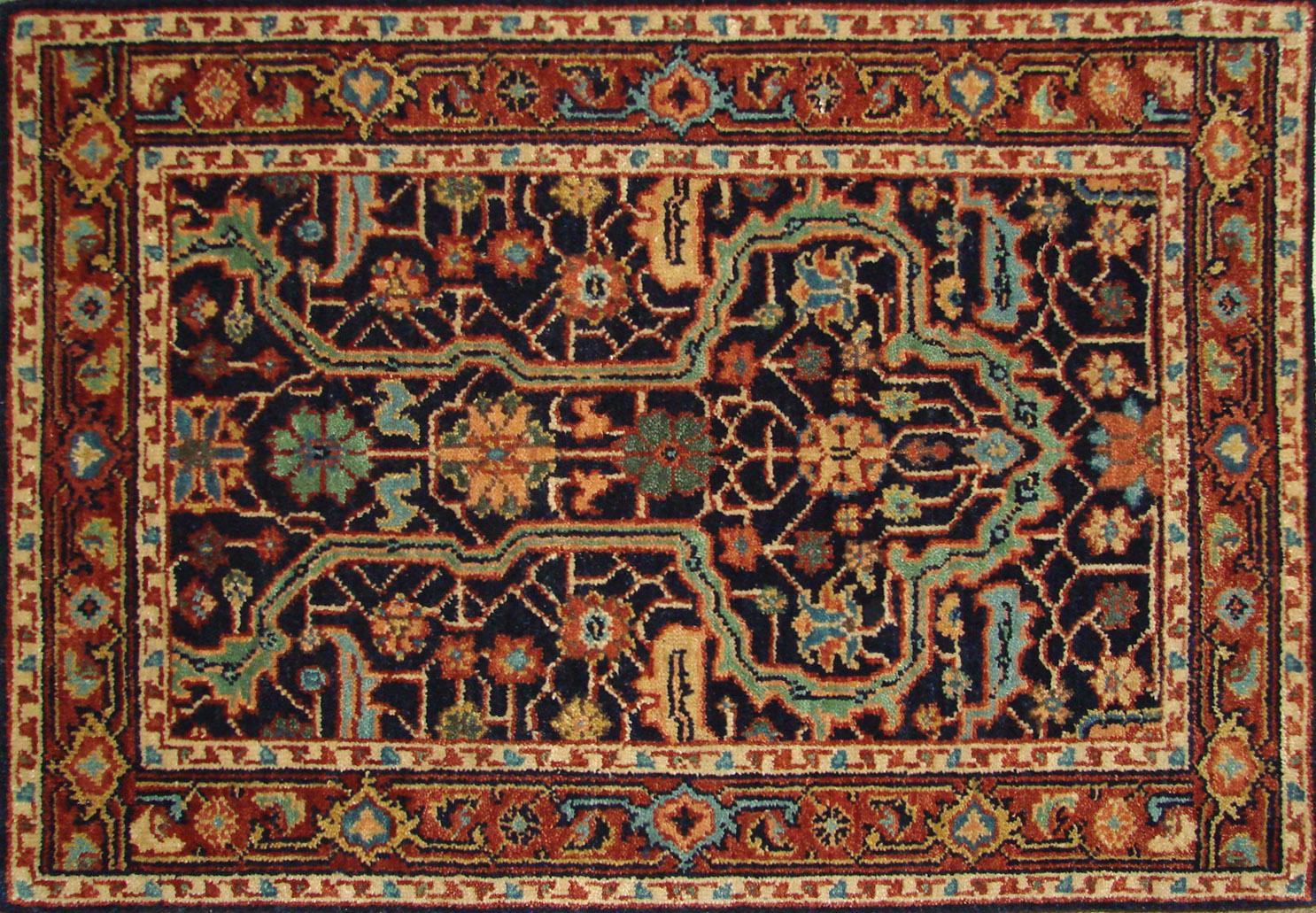 2X3 Heriz/Serapi Hand Knotted Wool Area Rug - MR021792