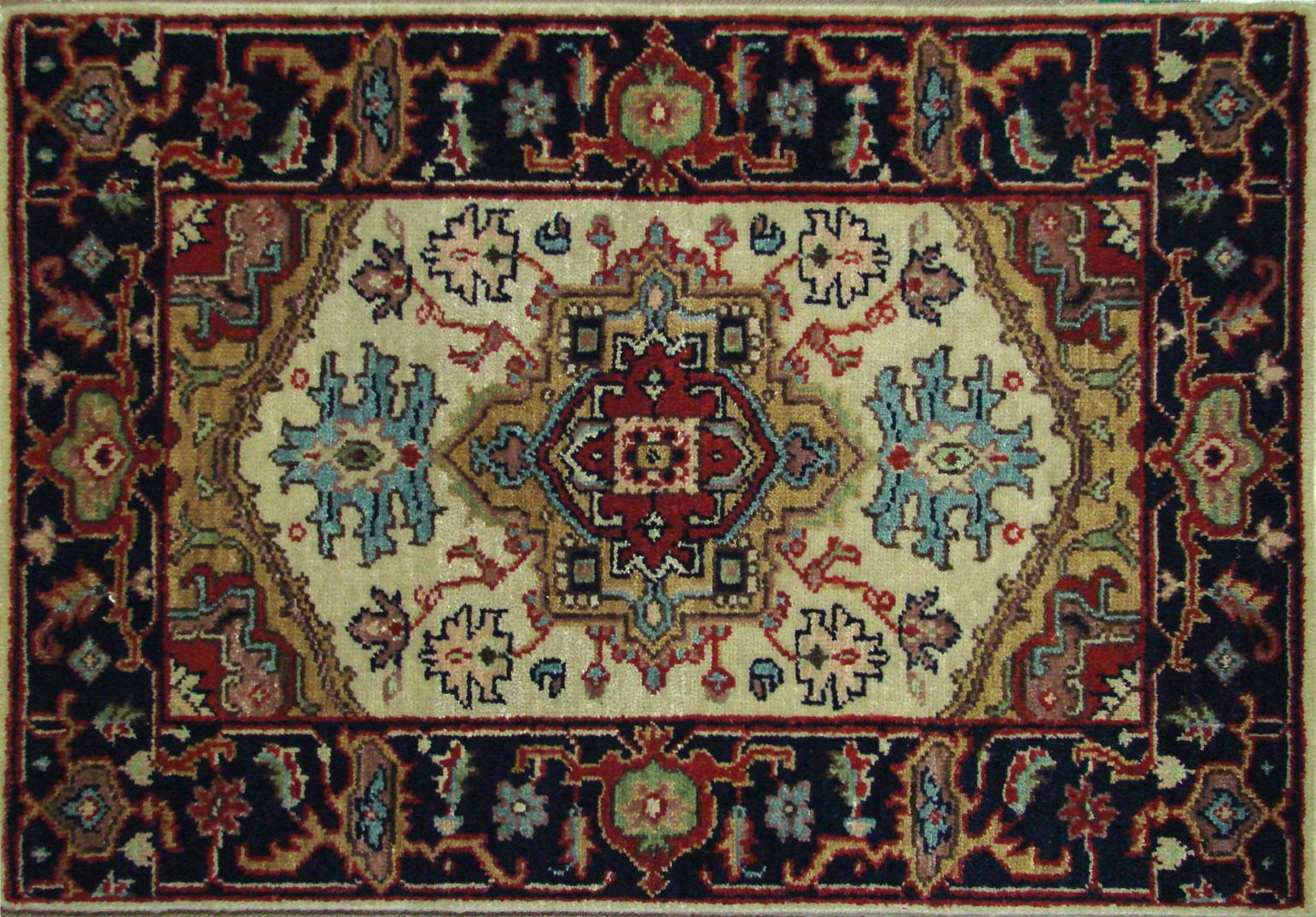 2X3 Heriz/Serapi Hand Knotted Wool Area Rug - MR021793