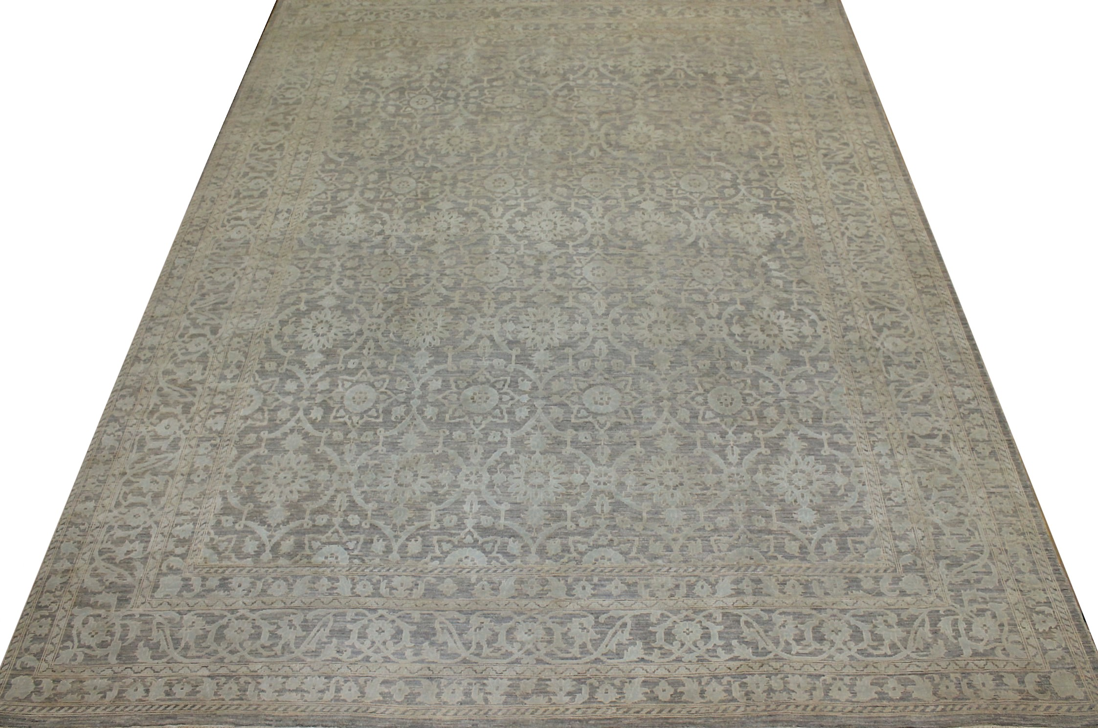 9x12 Contemporary Hand Knotted Wool Area Rug - MR021823
