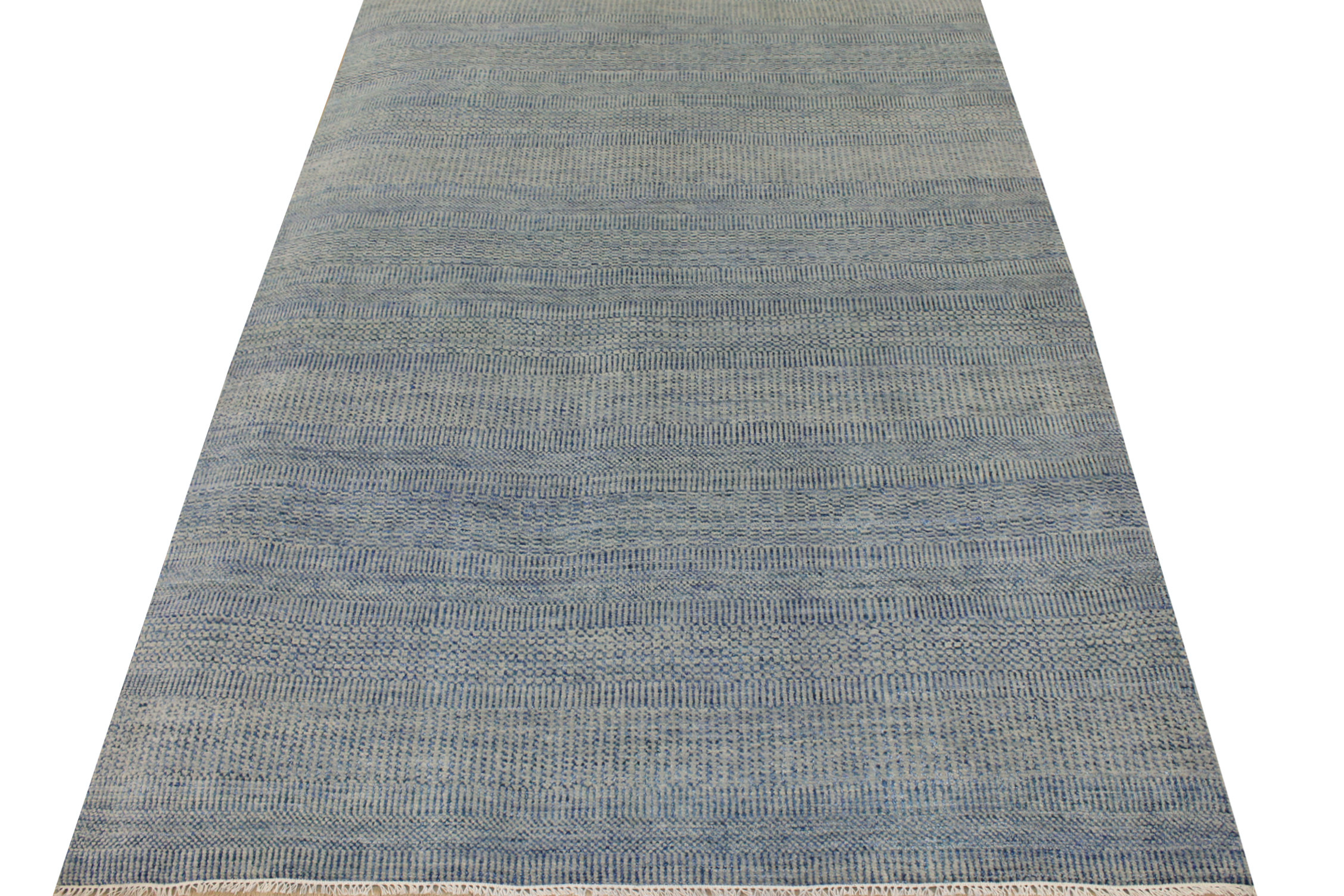 6x9 Contemporary Hand Knotted Wool Area Rug - MR021840