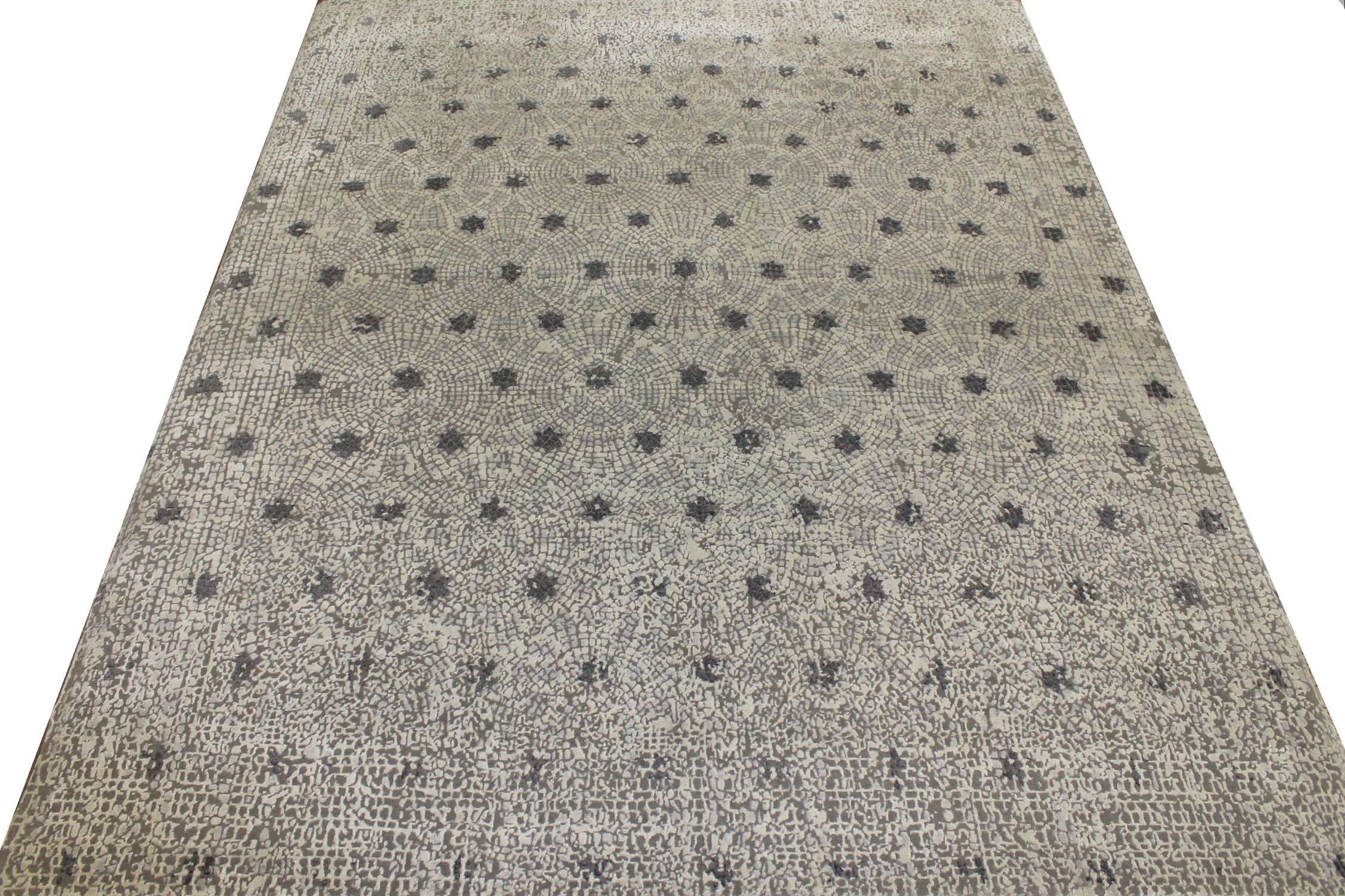 8x10 Contemporary Hand Knotted Wool Area Rug - MR021889